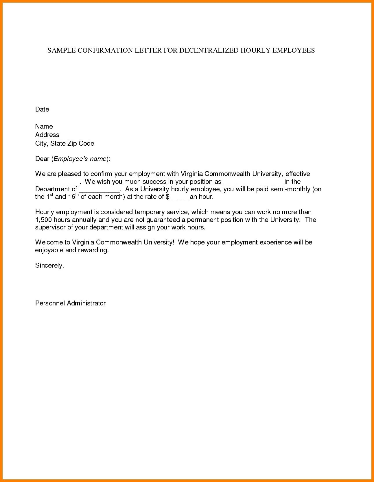 Temp To Perm Offer Letter Template Examples Letter Cover