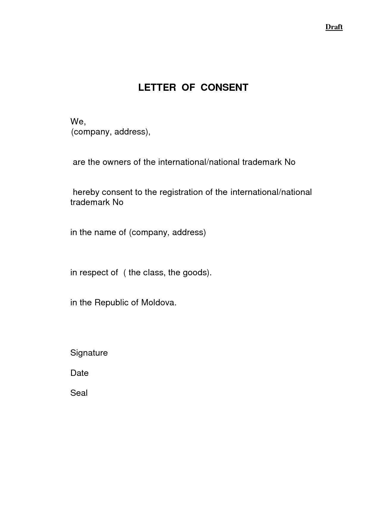 Parental Consent Permission Letter Template Samples | Letter Cover