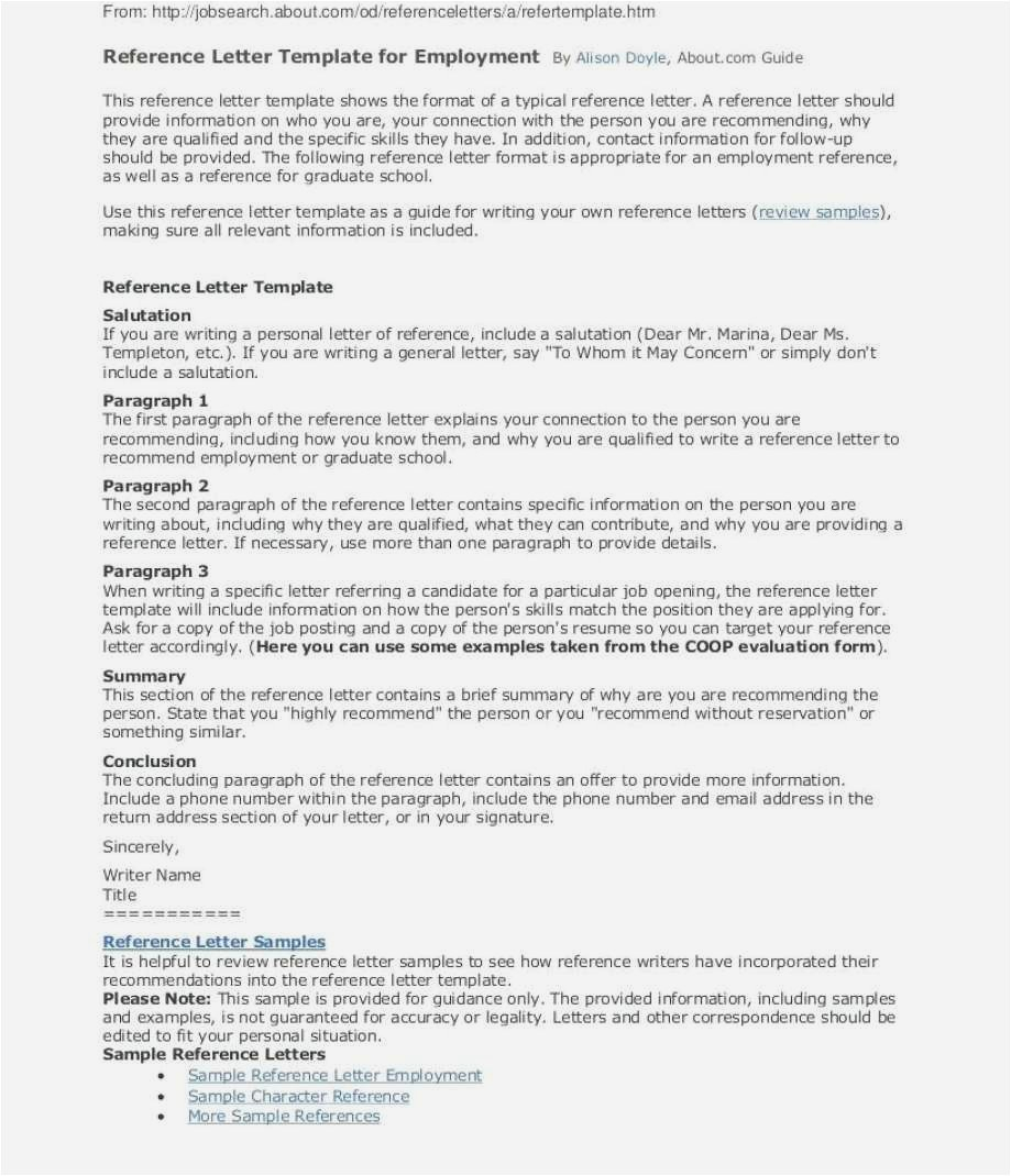 Free Employment Reference Letter Template - Personal Reference Letter Sample Free Download Best solutions