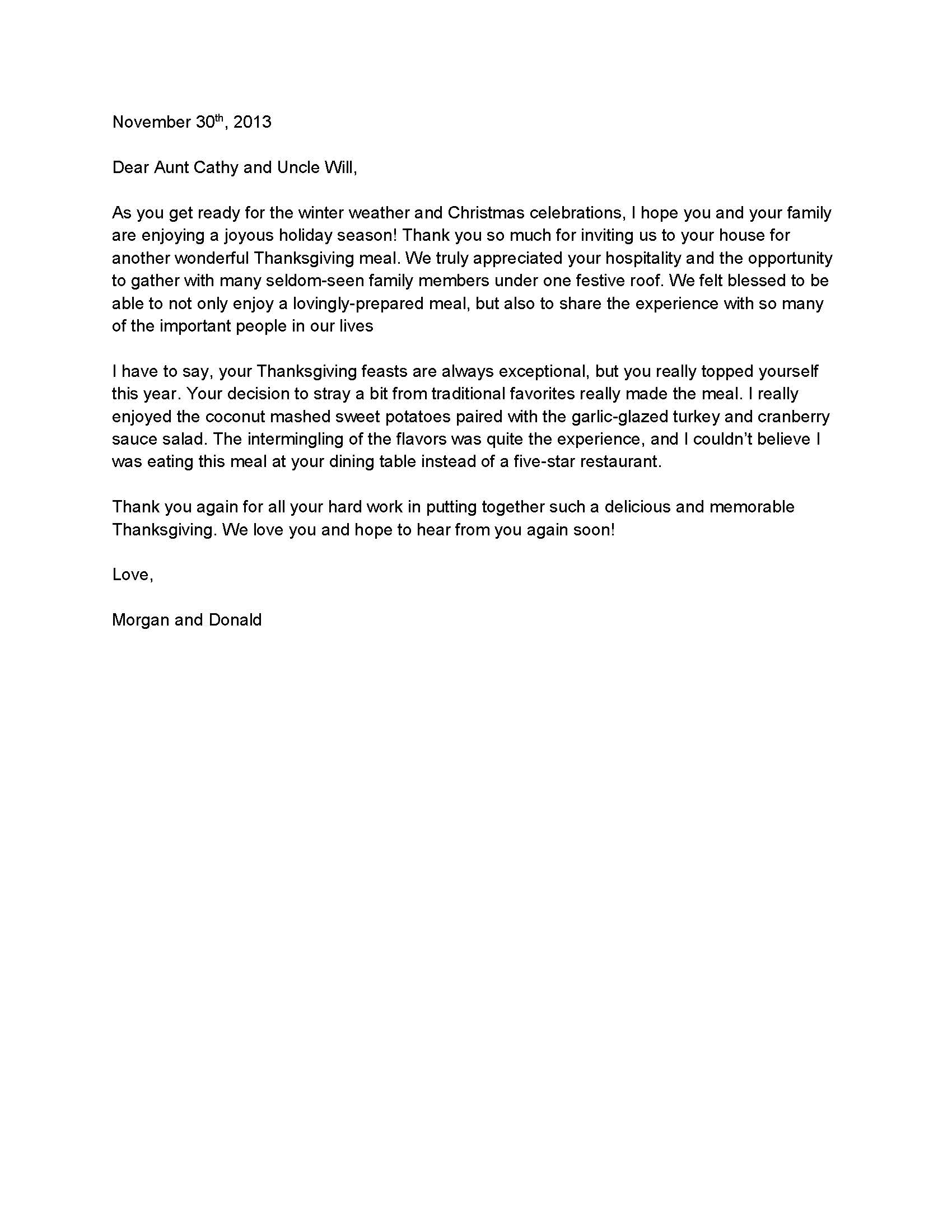 Fundraising Thank You Letter Template - Personal Thank You Letter Template Acurnamedia