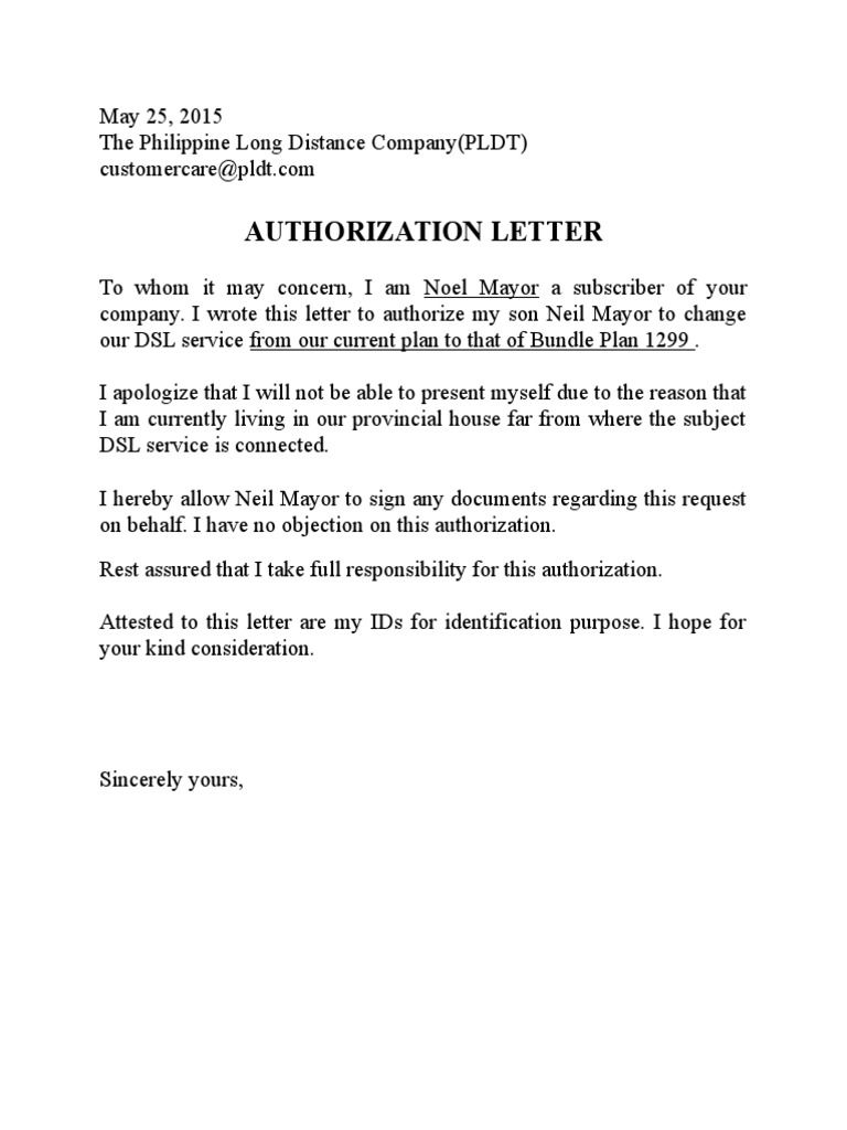 letter of resignation template word 2007 example-pldt authorization letter sample bank free documents pdf word 3-t