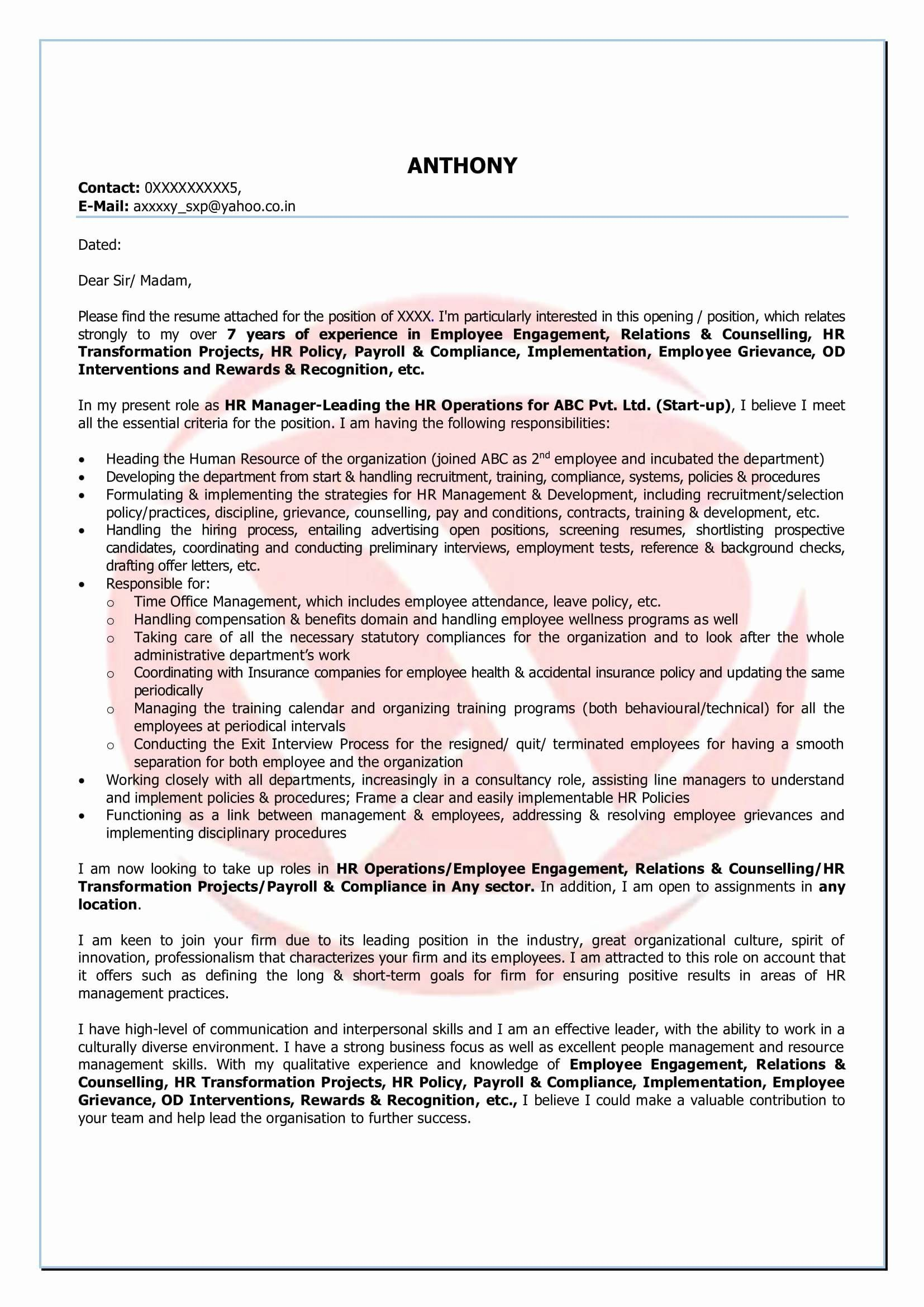 Gdpr Letter Template - Pliance Statement Template