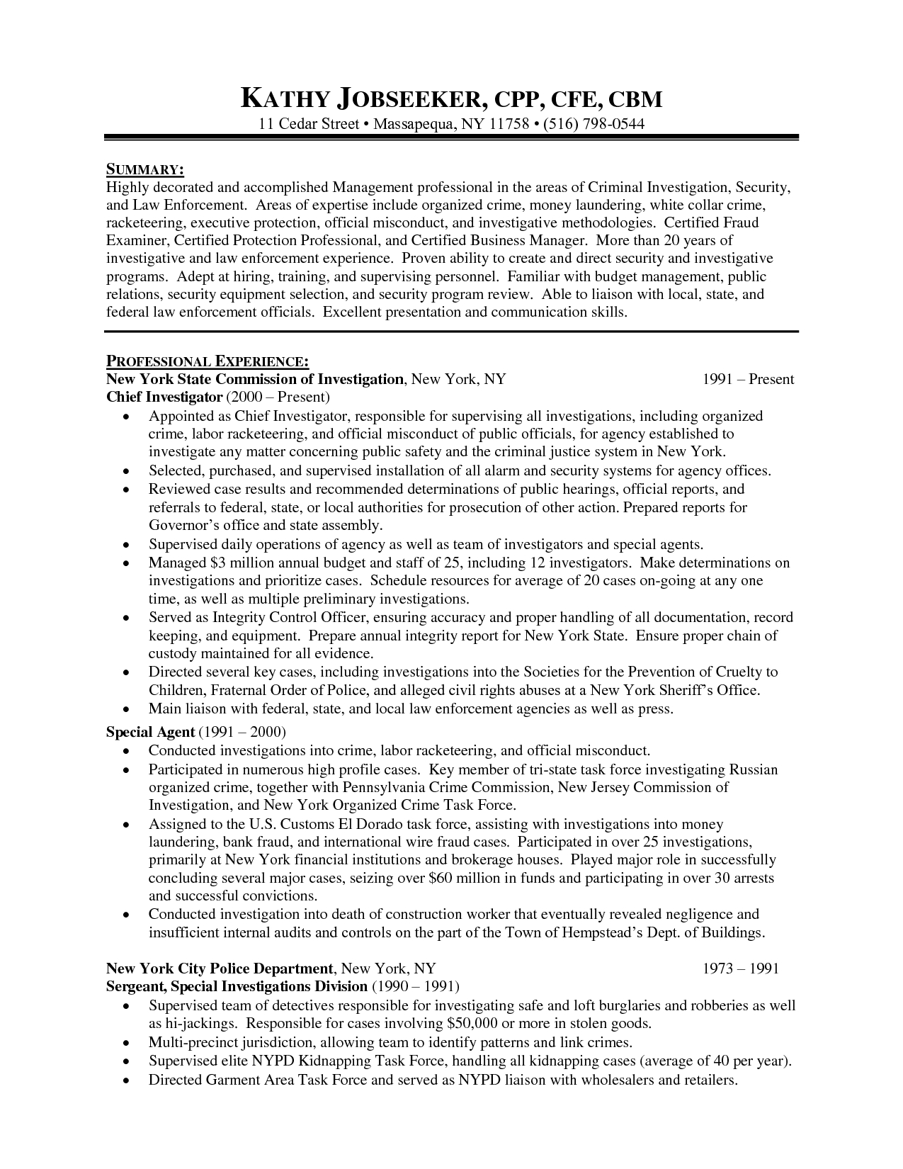 Police Officer Cover Letter Template - Police Ficer Resume Sample Objective Umecareer