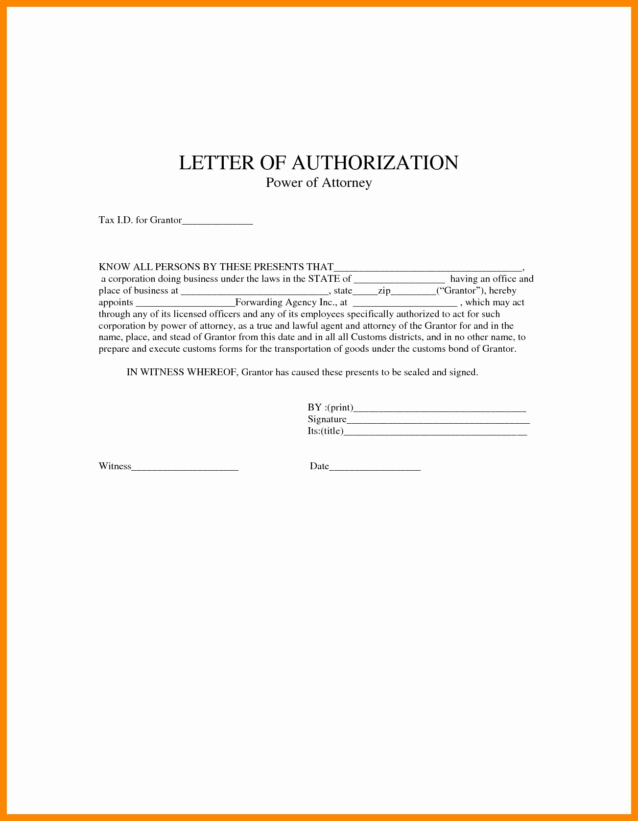 Simple Power Of attorney Letter Template - Power Of attorney Letter Sample Acurnamedia