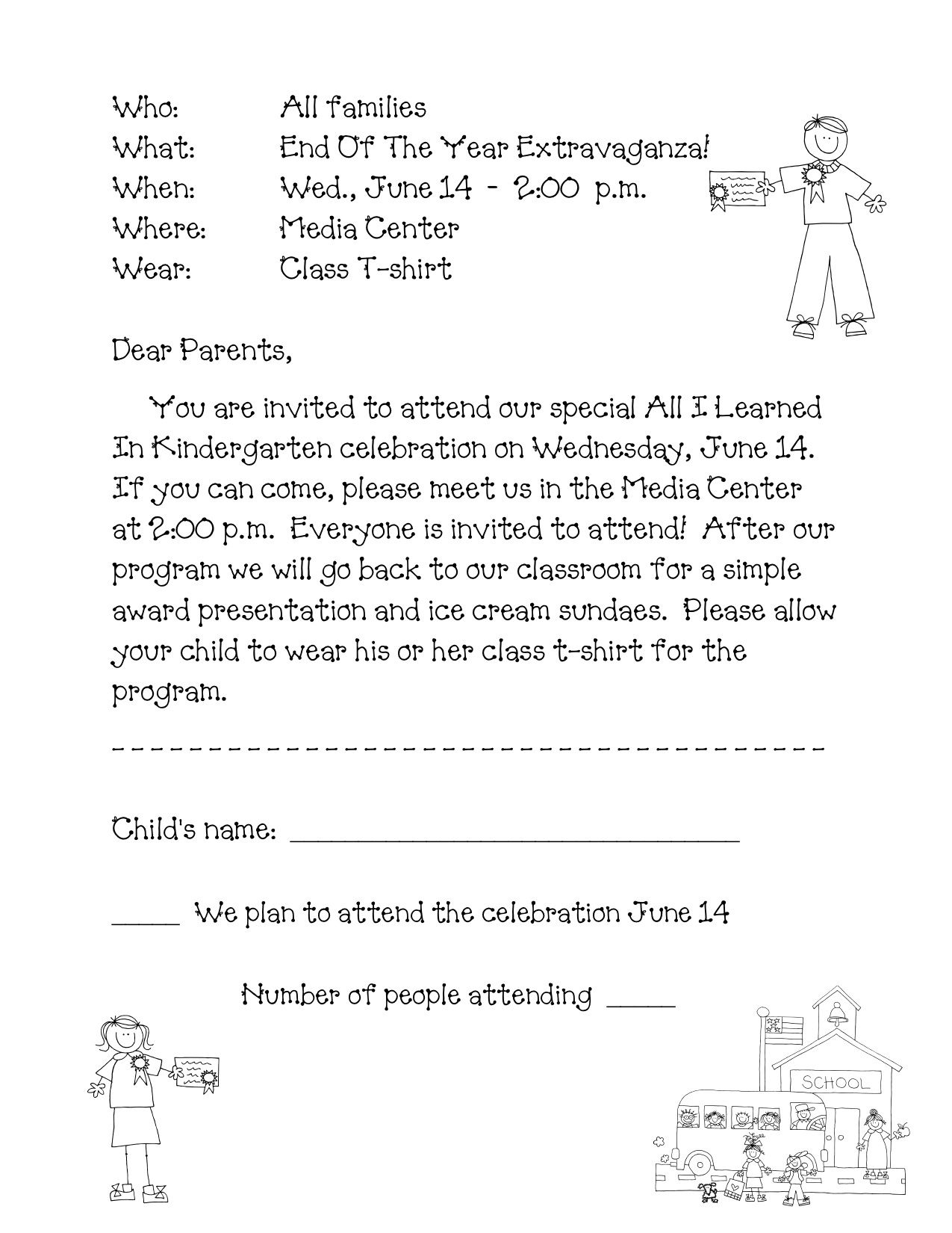 Letter A Template for Preschool - Preschool Graduation Program Sample Google Search