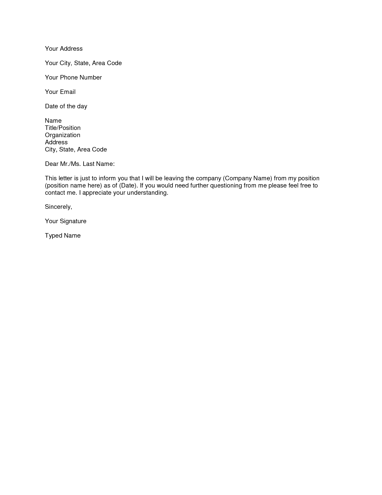 Auto Loan Payoff Letter Template - Printable Sample Letter Of Resignation form