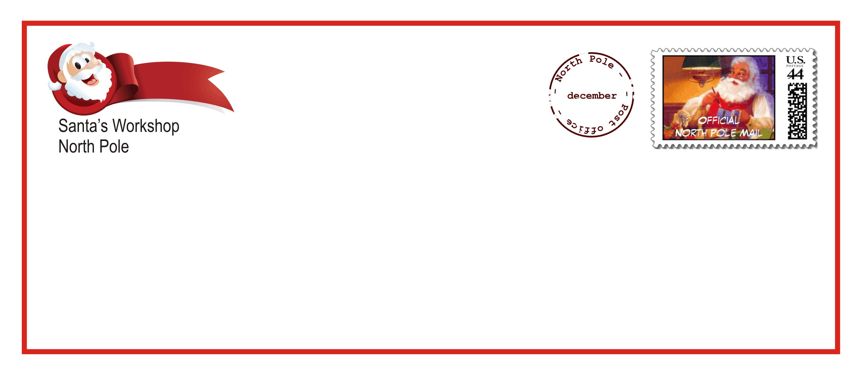 North Pole Letter Template - Printable Santa Letter Envelopes that E with the Upgraded Letter