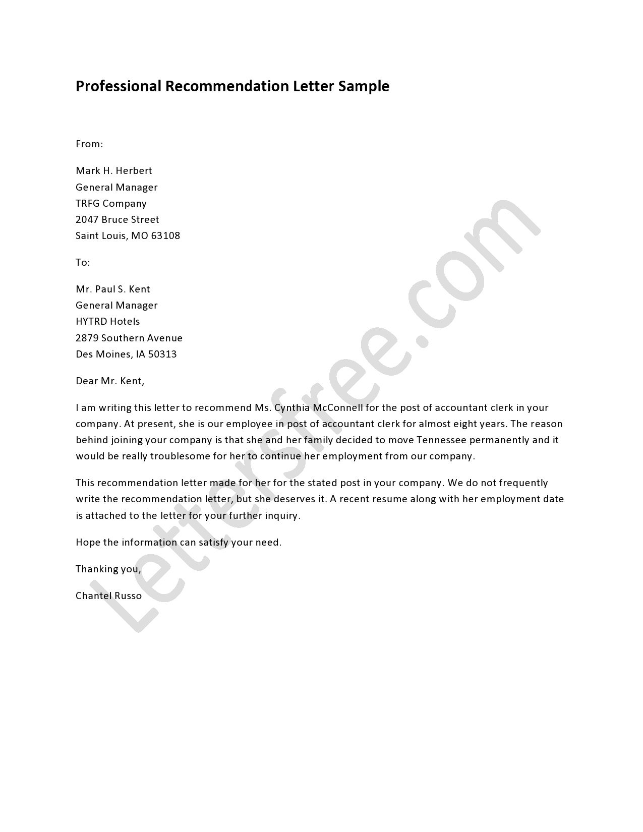 Business Referral Letter Template Examples Letter Cover Templates