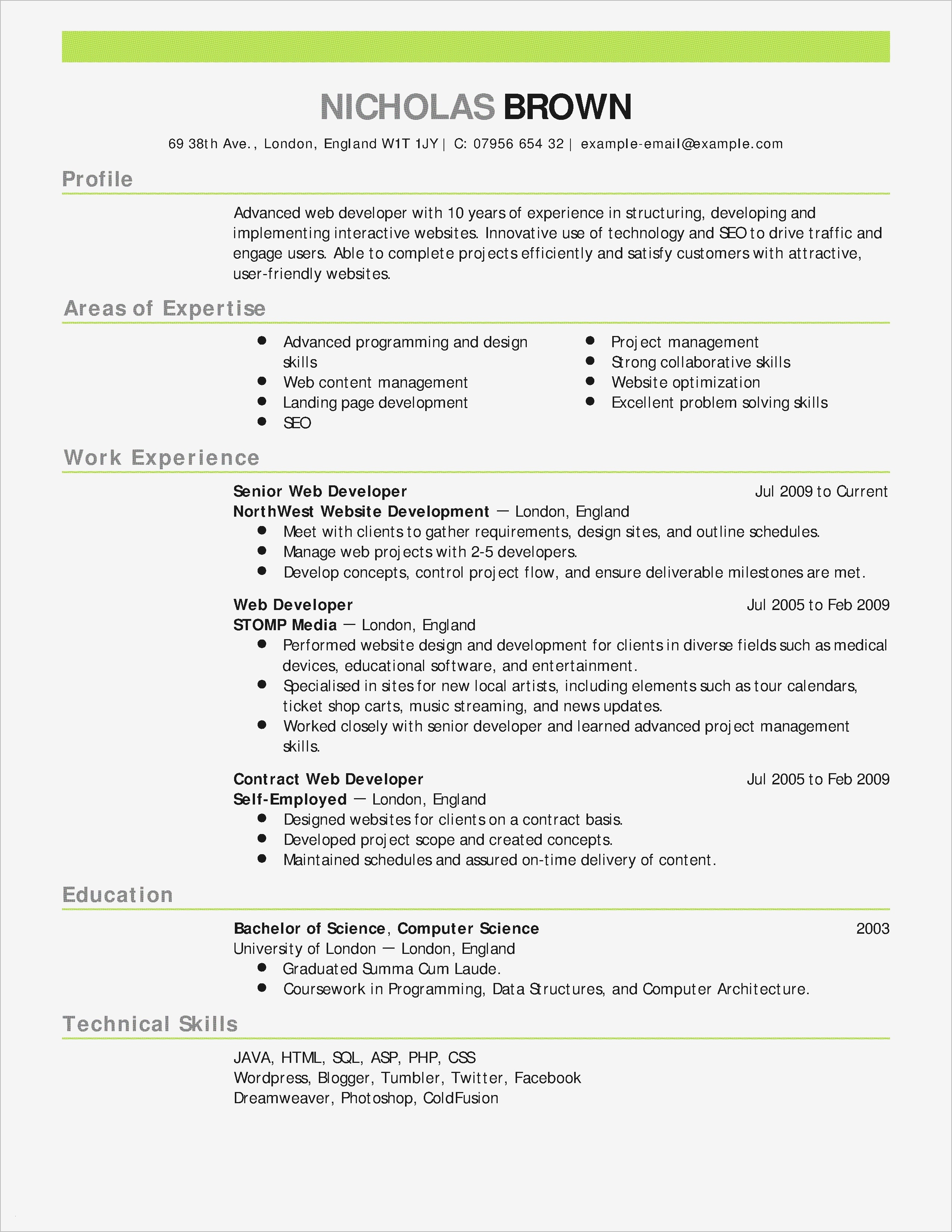 Free Online Resume Cover Letter Template - Professional Resume Template Free Line