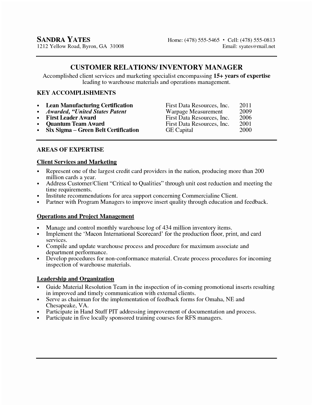 Operations Manager Cover Letter Template - Project Manager Cover Letter Project Manager Cover Letter Sample New