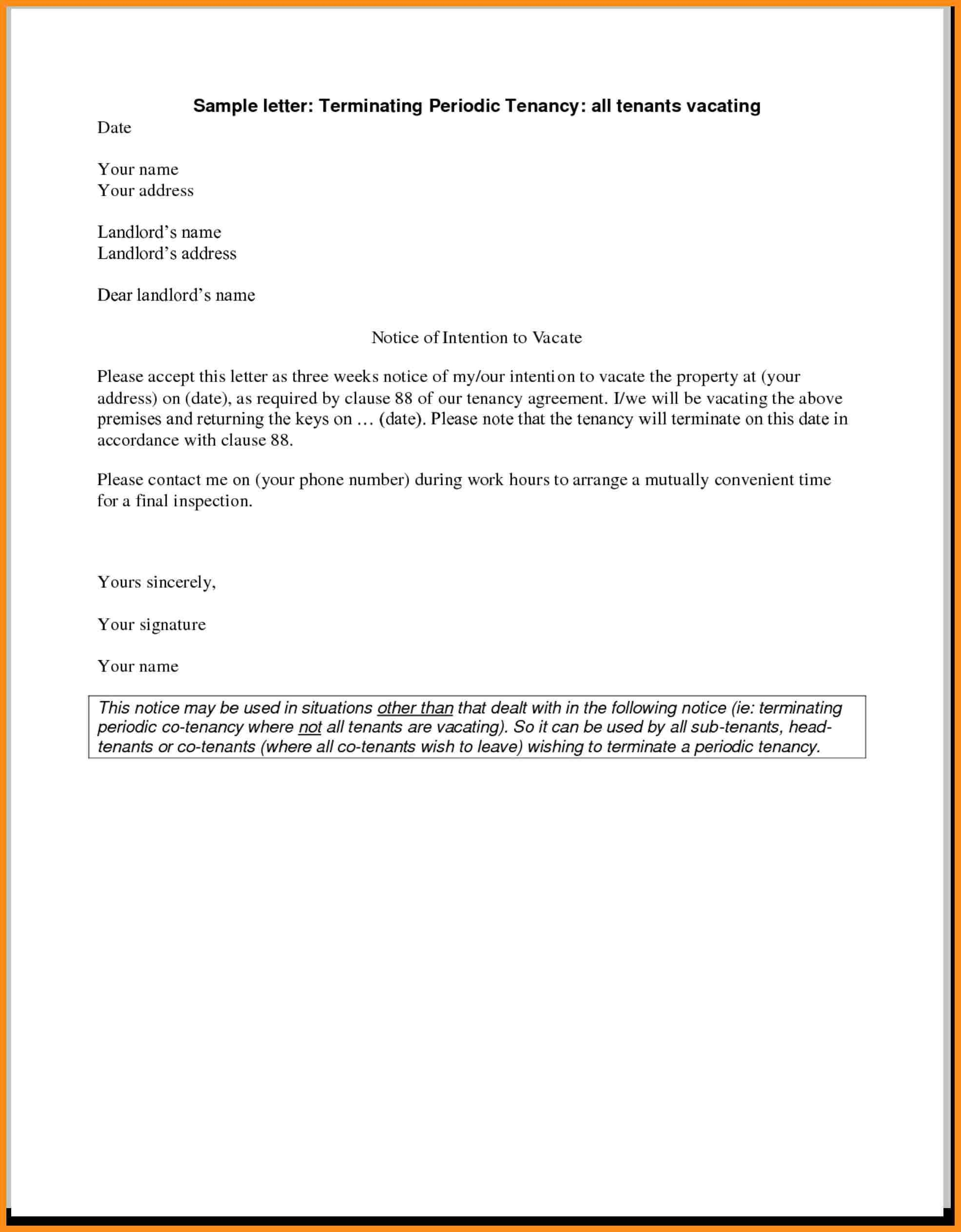 Routine Inspection Letter to Tenant Template Examples