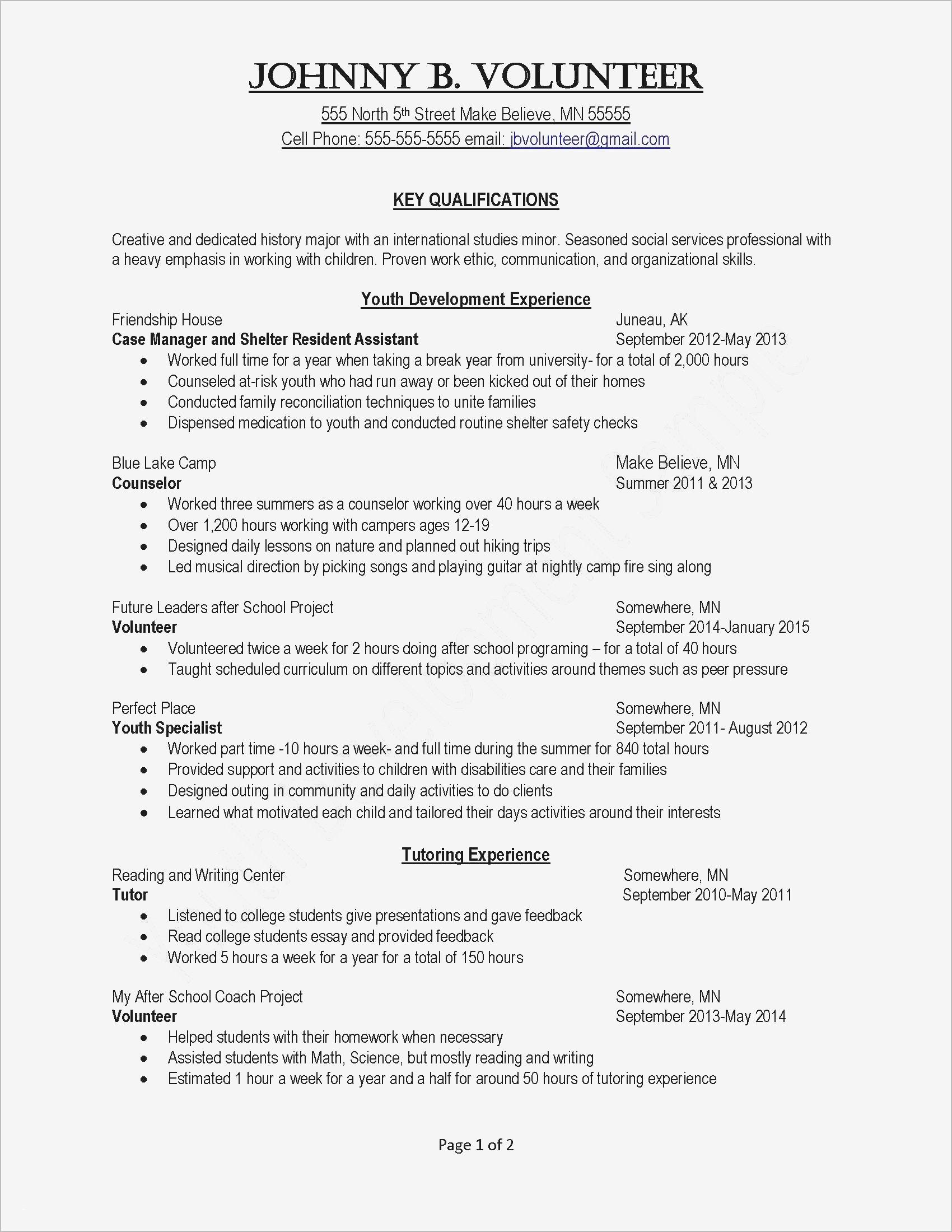 Volunteer Hours Confirmation Letter Template - Quote for Volunteering Lovely Grapher Resume Sample Beautiful Resume