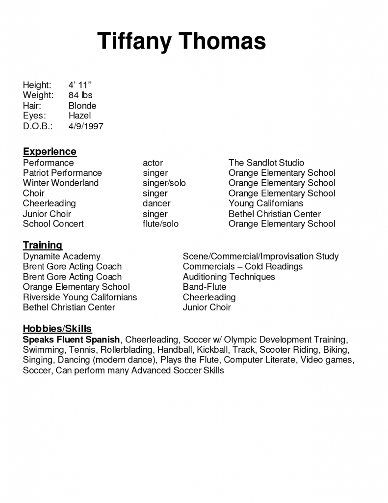 Acting Cover Letter Template - Rated 1 Resume Writing Service In Arizona What Do I Put On My