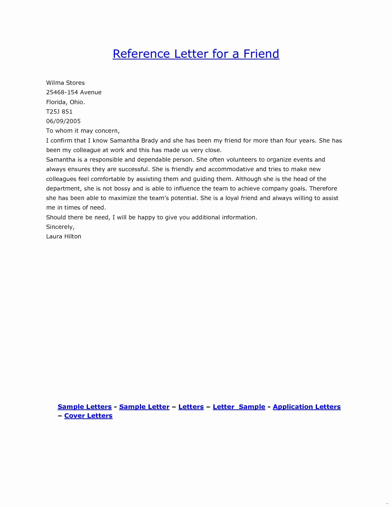 Letter Of Recommendation for A Friend Template - Re Mendation Letter for A Friend for A Job Fresh Job Reference