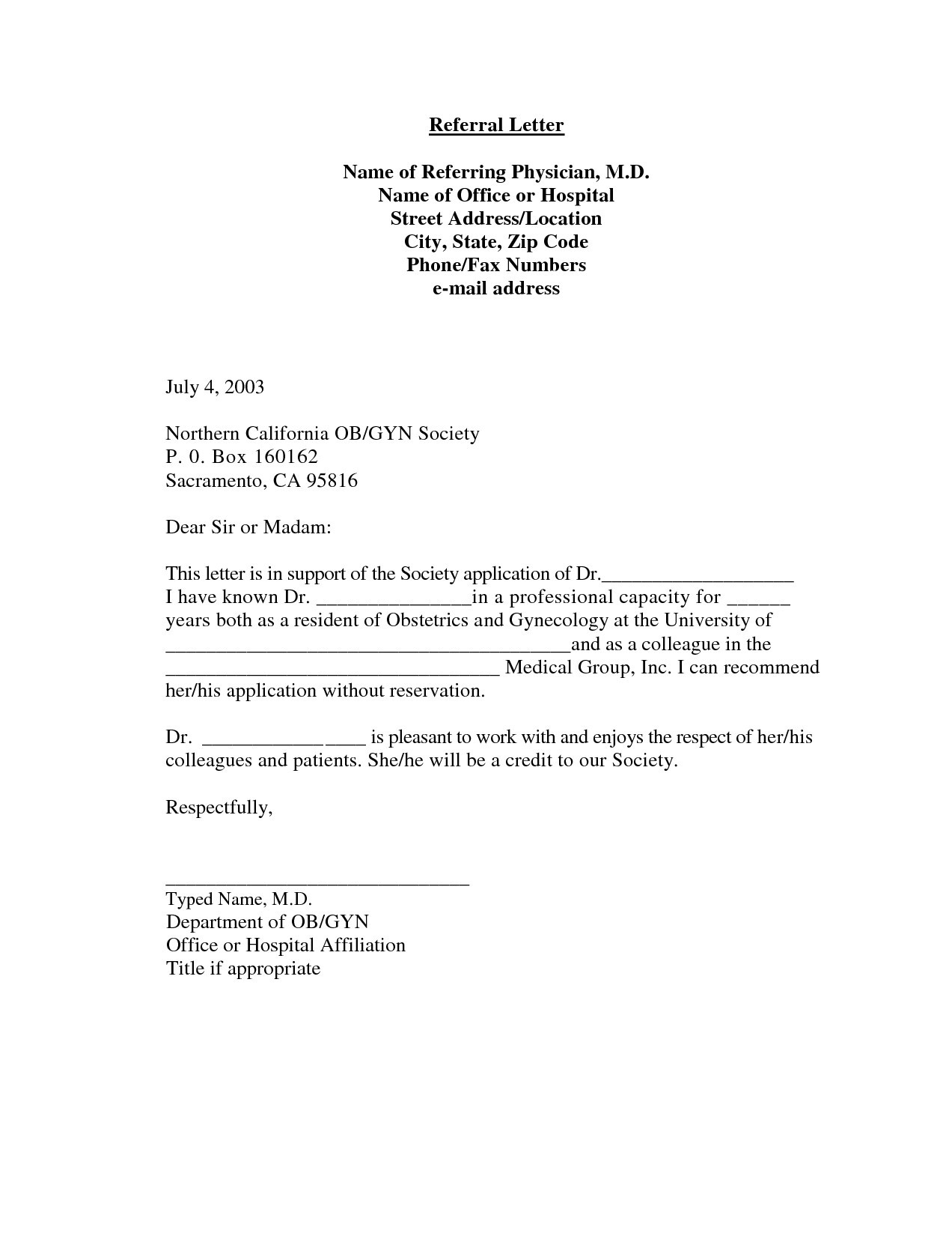 Medical Consult Letter Template - Re Mendation Letter Template Medical Residency Copy Sample Medical