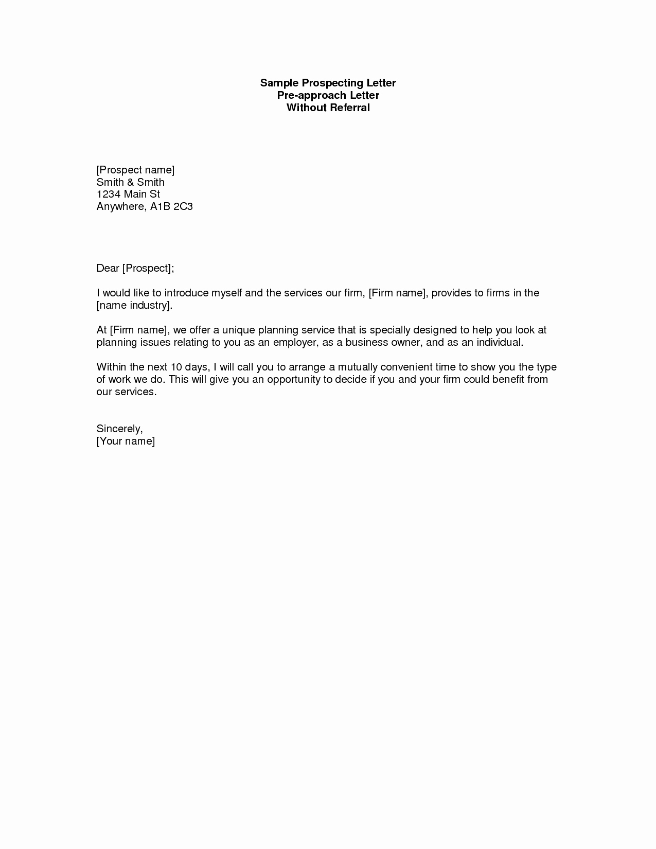 Real Estate Prospecting Letter Template - Real Estate Prospecting Letters Samples Beautiful Prospecting Letter