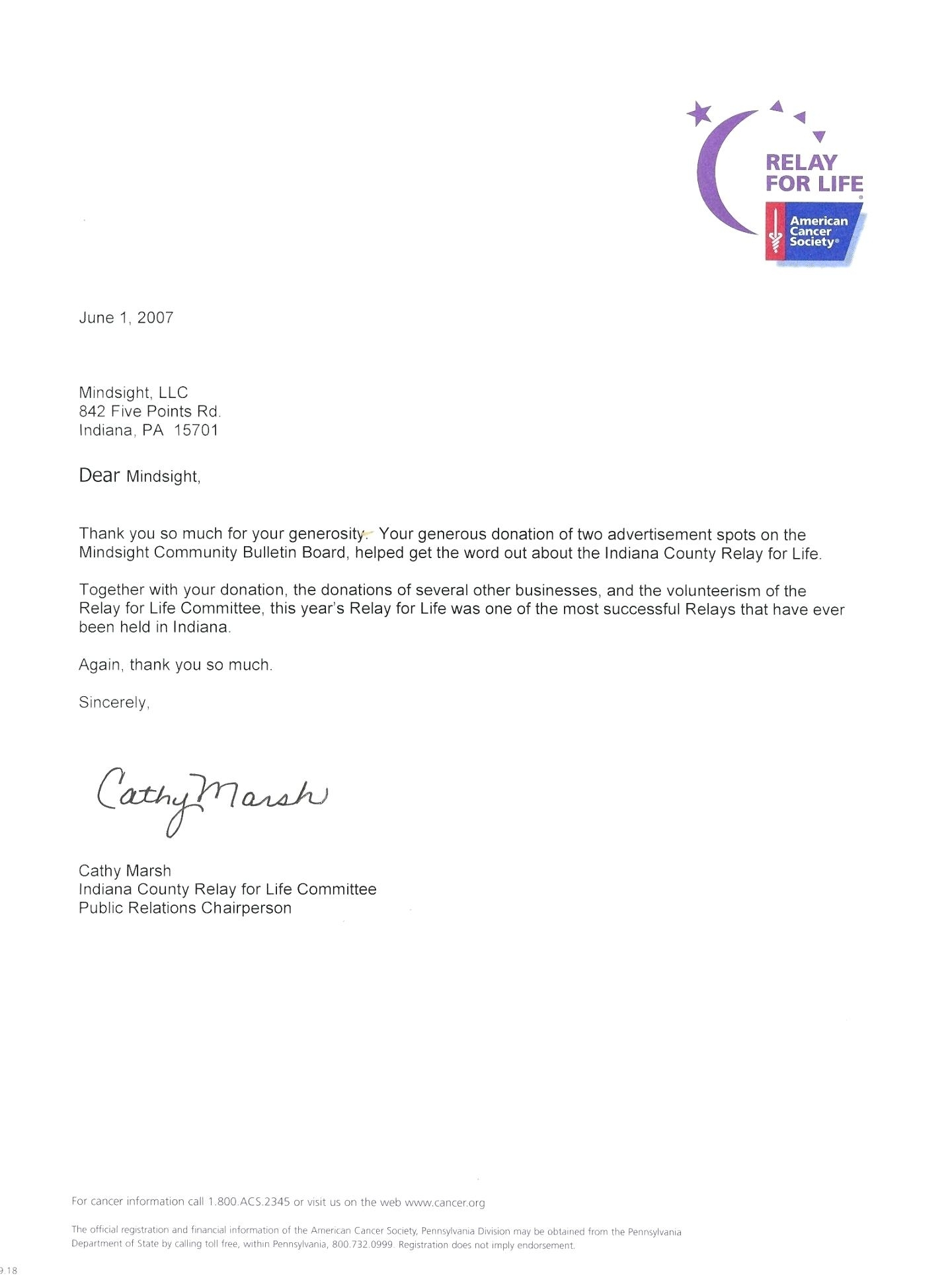 relay for life donation letter template Collection-Relay For Life Donation Letter Seven 19-p