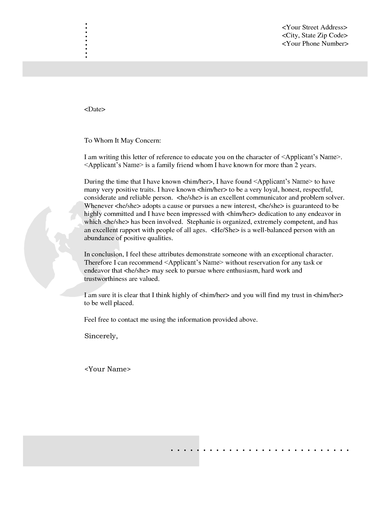Rental Reference Letter From Friend Template - Rental Reference Letter From Friend Pdf format