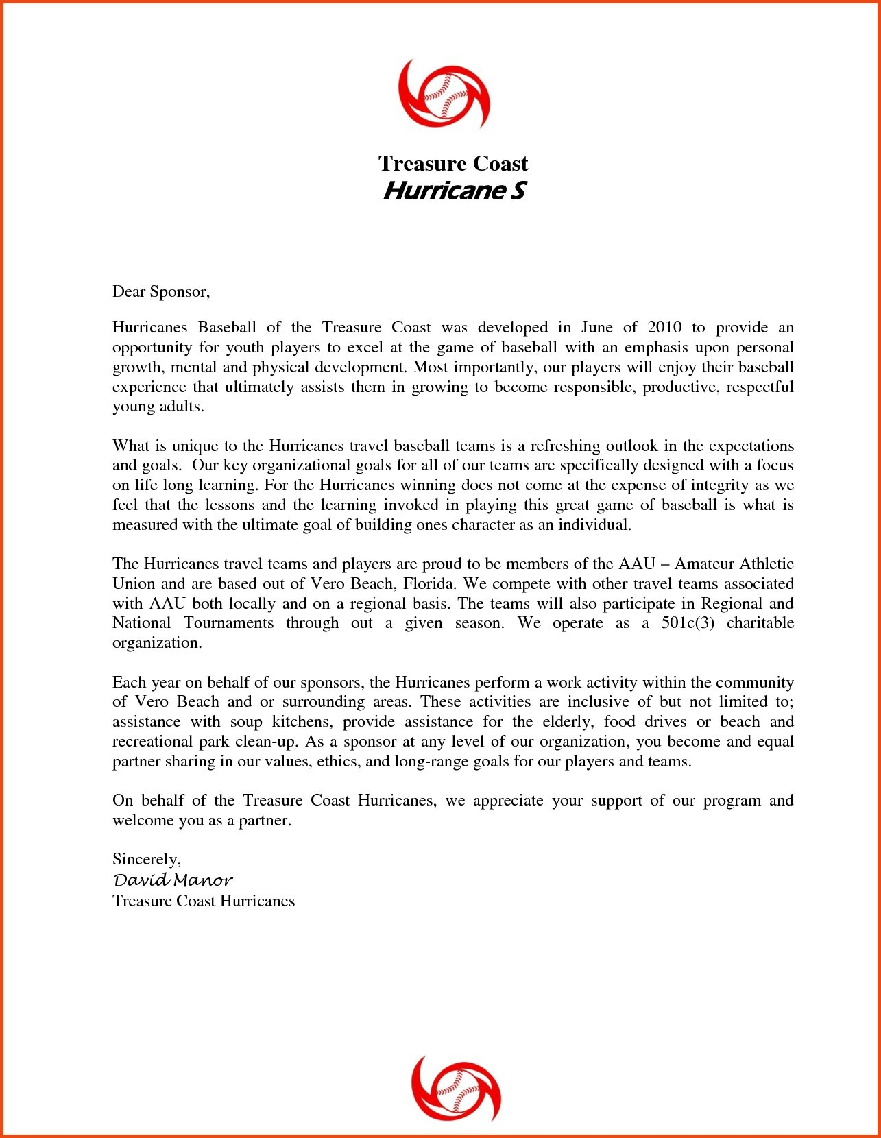 Baseball Sponsorship Letter Template - Request Letter format for Endorsement Fresh Sample Sponsorship