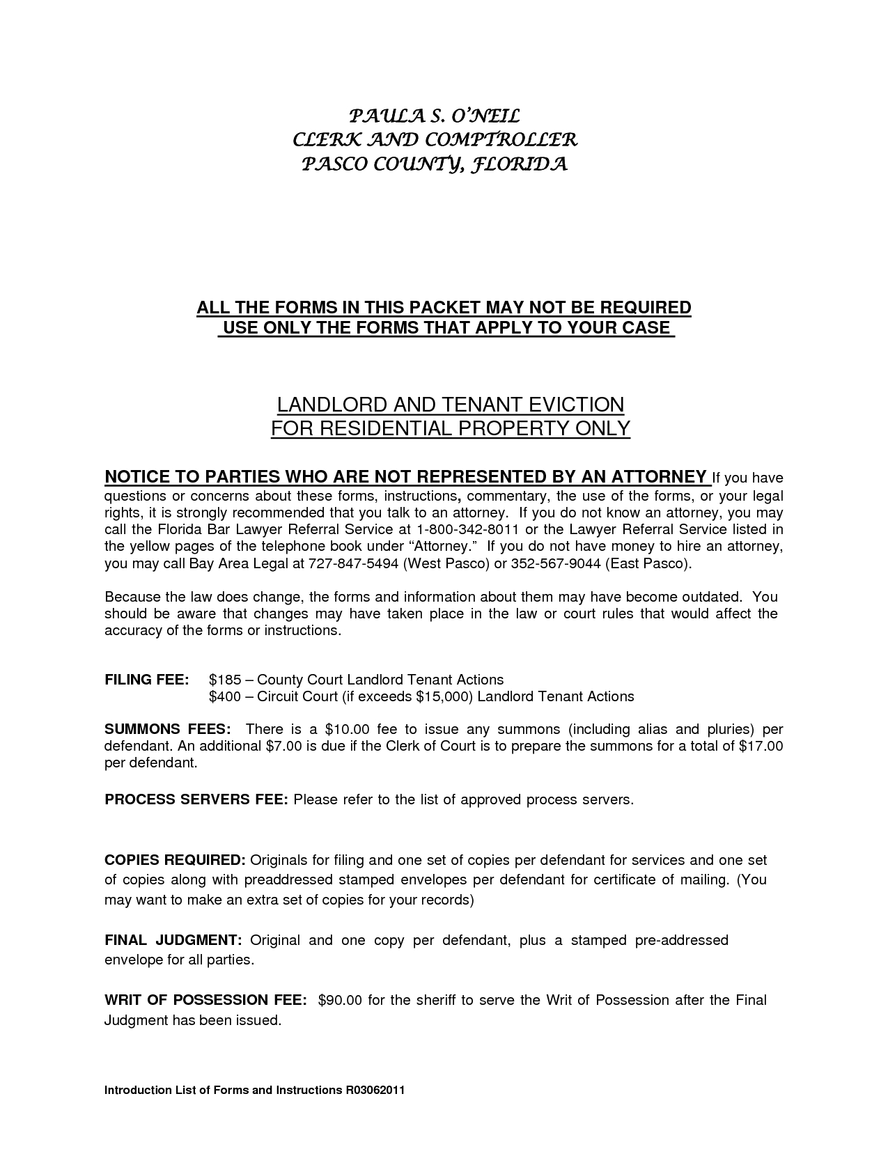 Foreclosure Letter Template - Residential Landlord Tenant Eviction Notice form by Ere