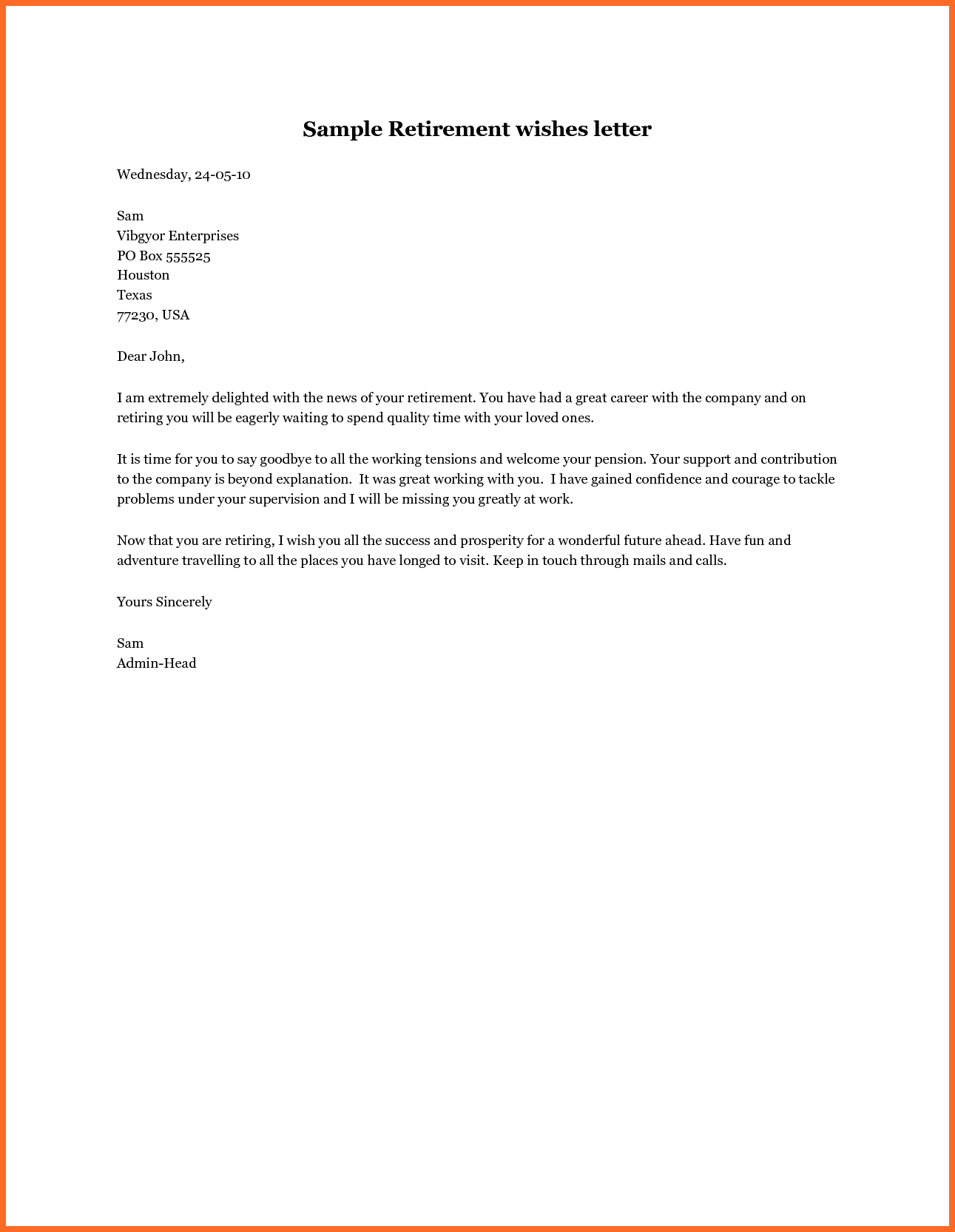 Retirement Letter to Employer Template - Resignation for Retirement Letter Sample Uk Template Samples Free