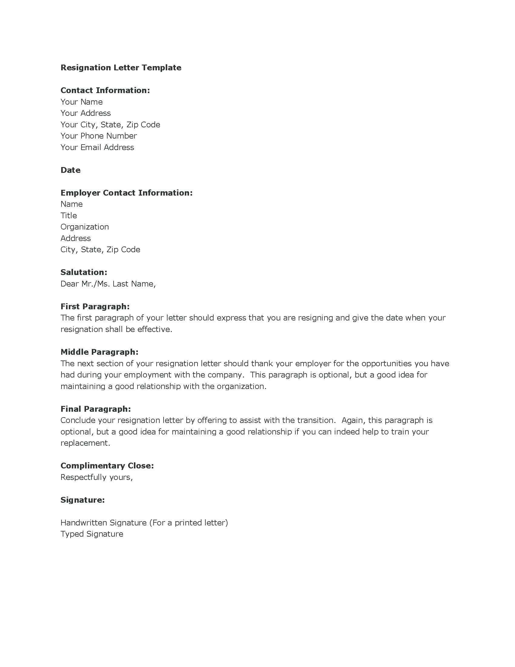 Microsoft Word Resignation Letter Template - Resignation Letter In Ms Word Sarahepps