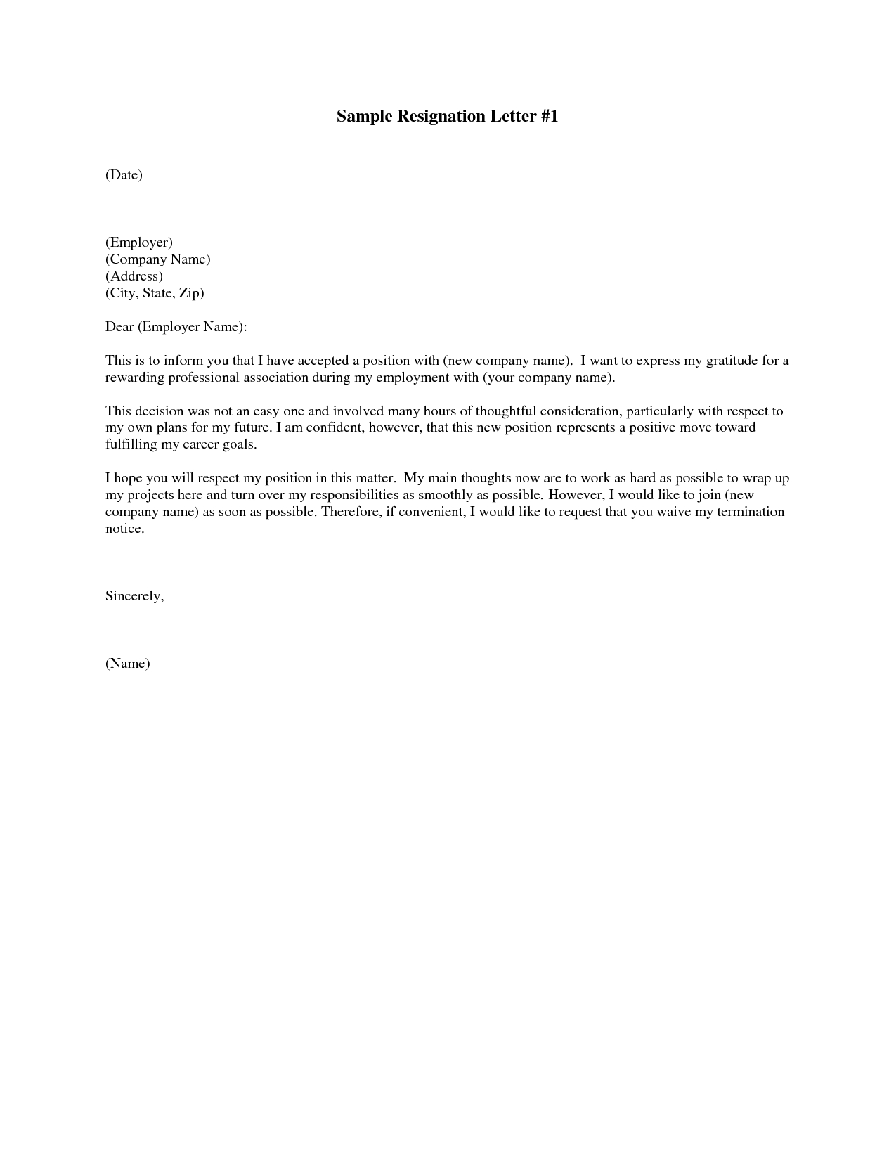 Sample Resignation Letter Template - Resignation Letter Sample Image Store Things to Wear