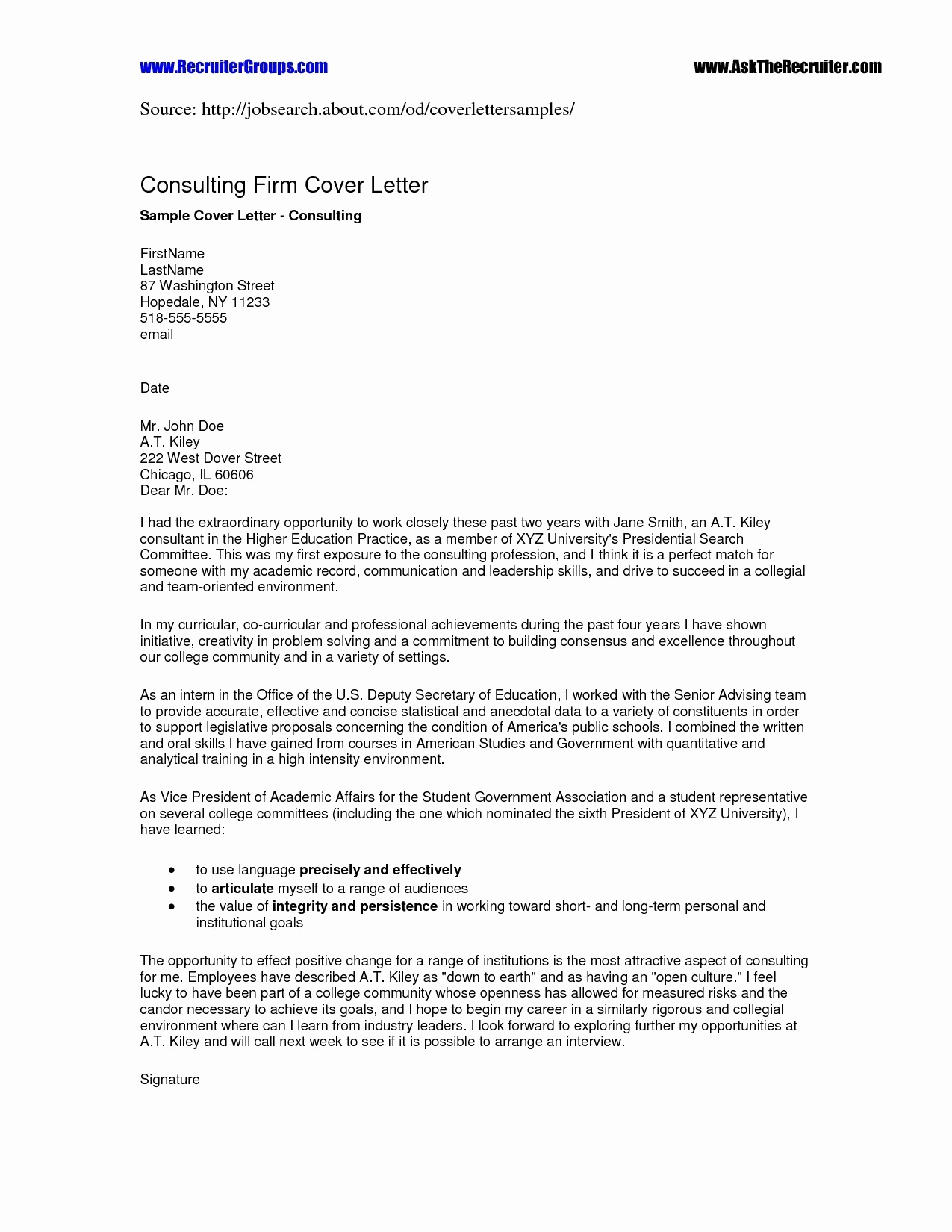Cover Letter Template Australia - Resume and Cover Letter Templates Australia