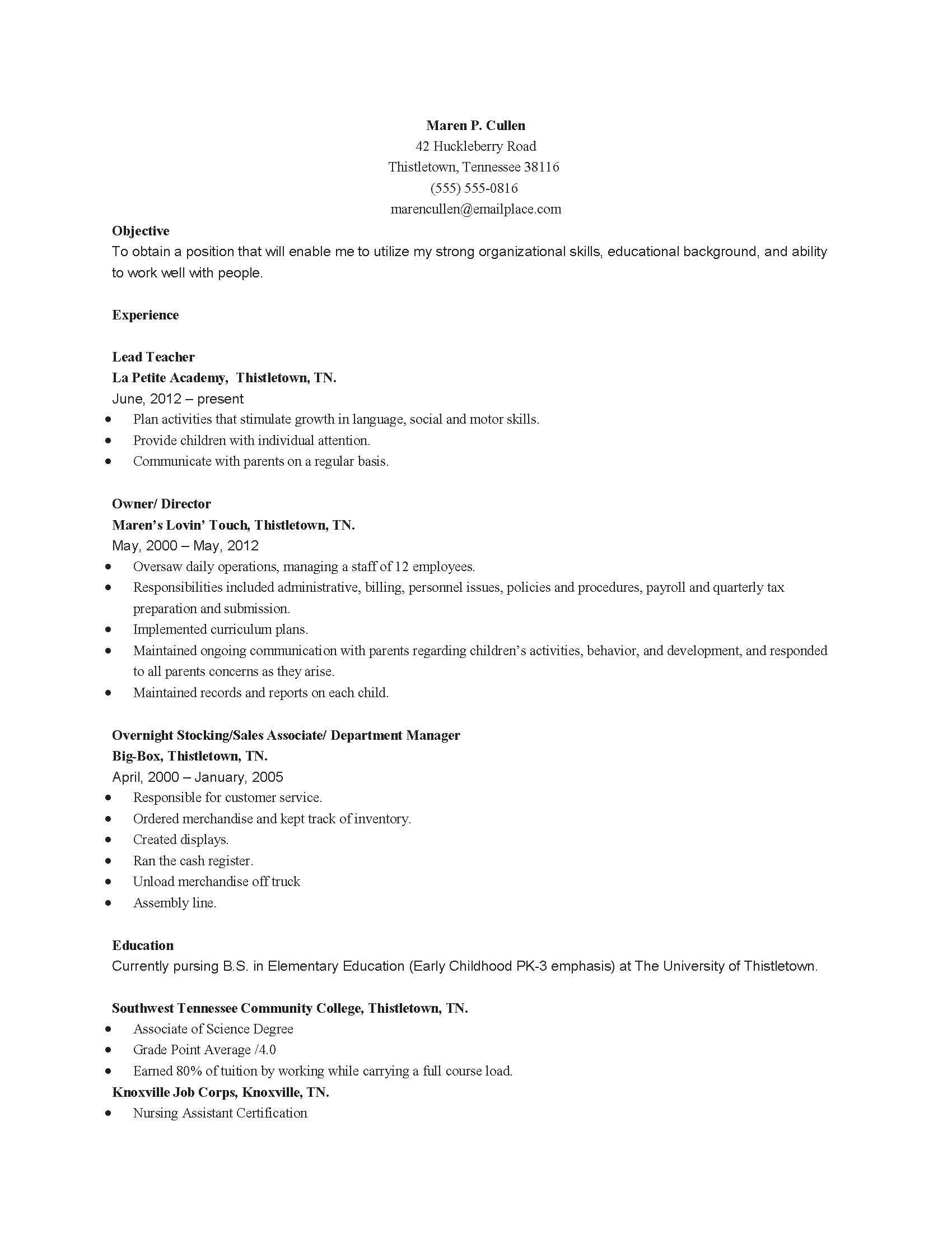 Parent Letter to Child Template - Resume Example for Teachers Resume Examples format