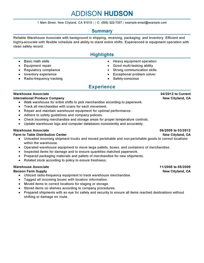 Cover Letter Template for Warehouse Position - Resume Examples for Warehouse Position Shalomhouse