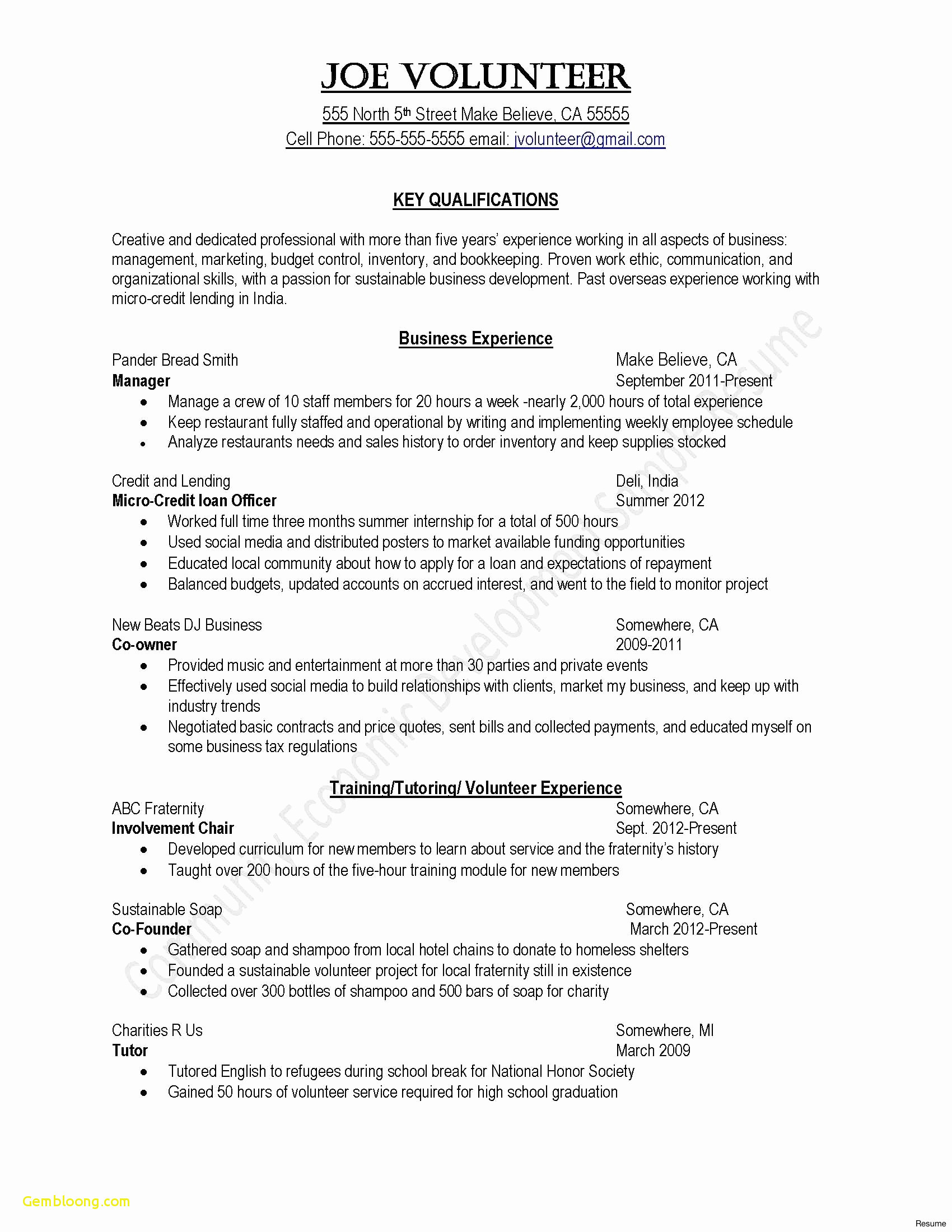 Template for Community Service Hours Letter - Resume Introduction Samples Reference Resume Objective Examples New