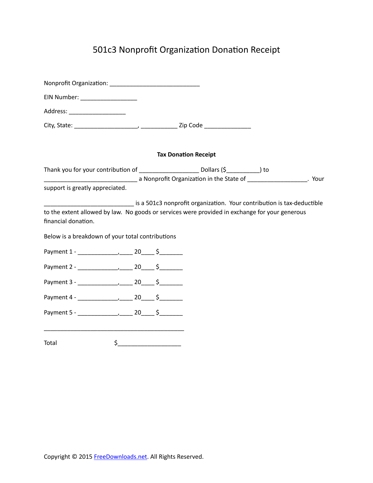 Charitable Donation Receipt Letter Template - Resume Sample – Page 8 – Imzadi Fragrances