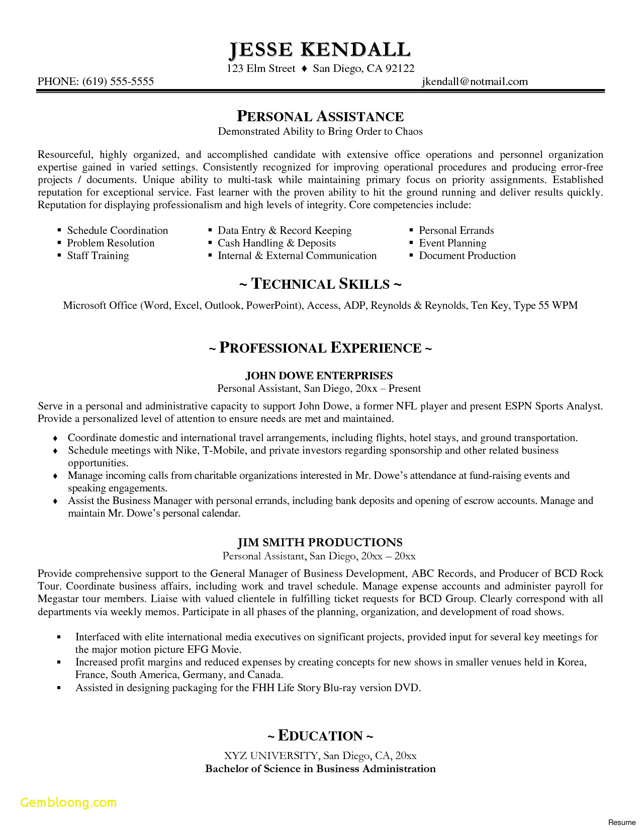 Motivation Letter Template Doc - Resume Template Word Doc New Executive Resume Templates Word Od