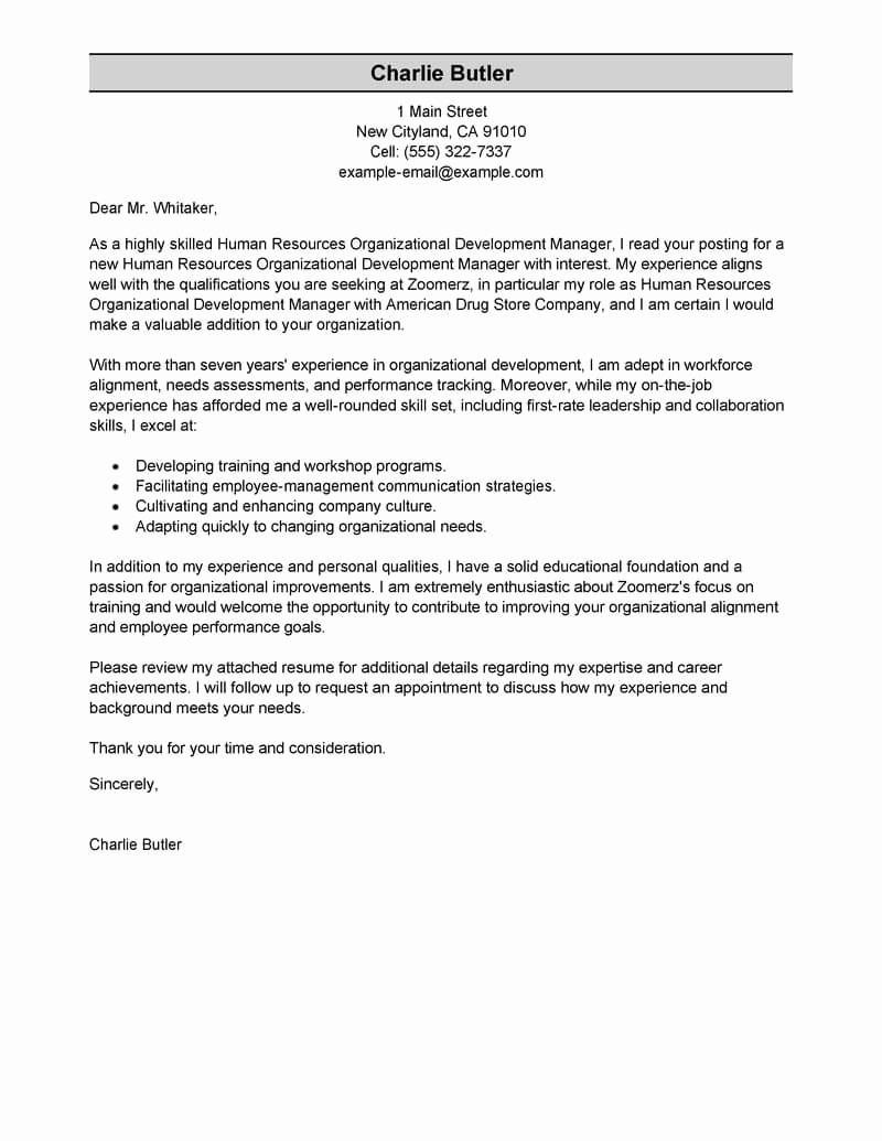 Letter Of Collaboration Template - Resume with Cover Letter Template New Od Consultant Cover Letter