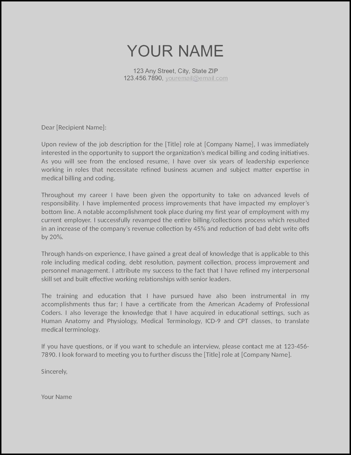 Modern Resume Cover Letter Template - Resume with Cover Letter Template Word Introduction Letter Template