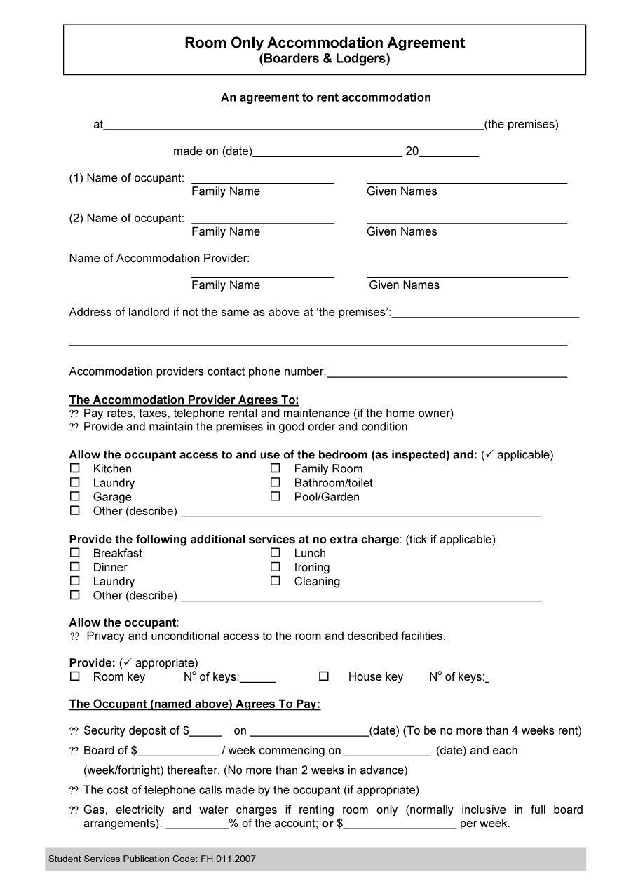 Roommate Eviction Letter Template - Roommate Agreement Template 01 Rental Agreement