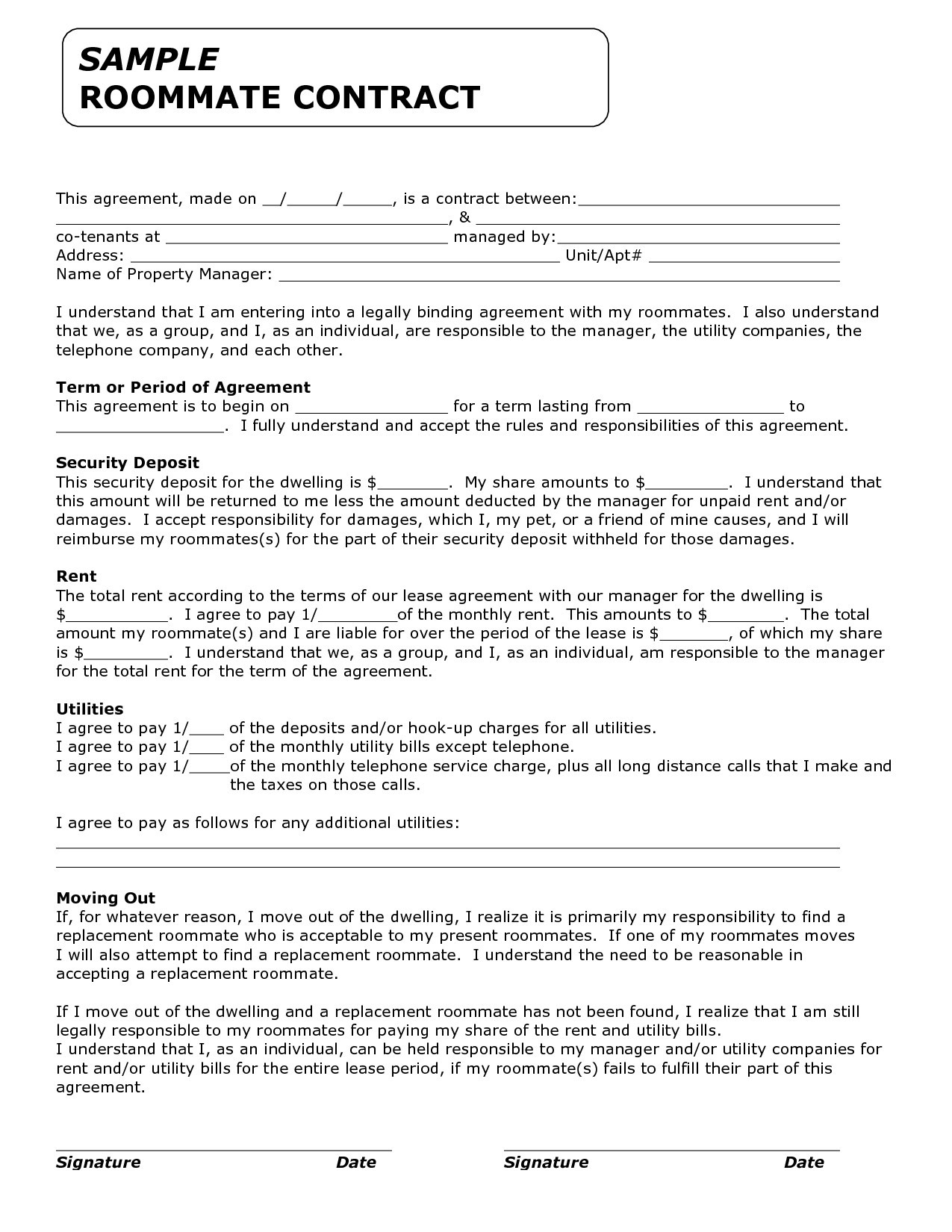 Roommate Eviction Letter Template - Royalty Contract Template Beautiful Rental Agreements Templates