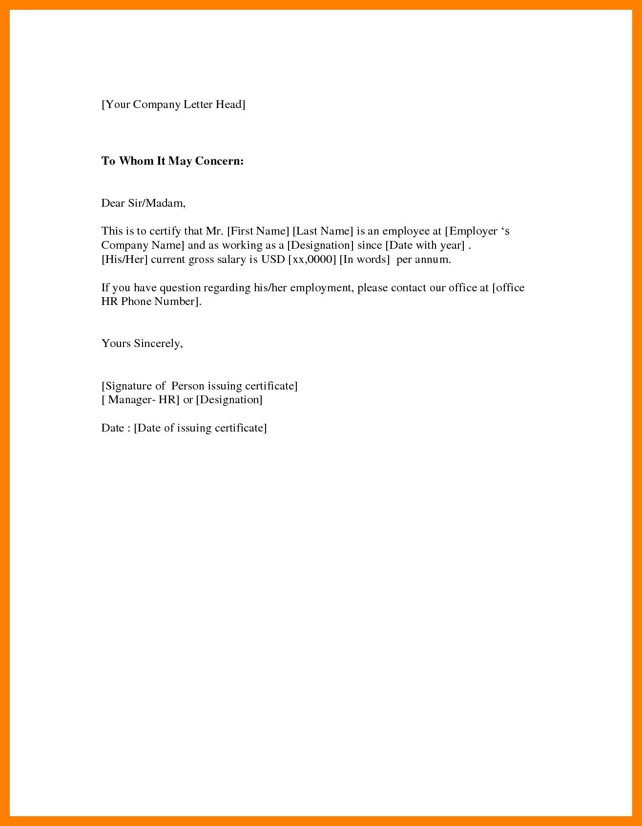 Employment verification letter to whom it may concern template employment verification letter to whom it may concern template salary certificate form 2018 new salary spiritdancerdesigns Images
