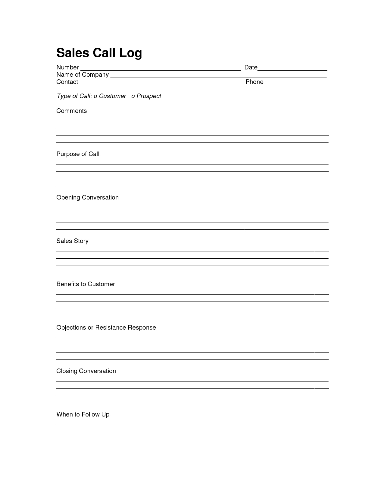 Car Sales Prospecting Letter Template - Sales Log Sheet Template Sales Call Log Template