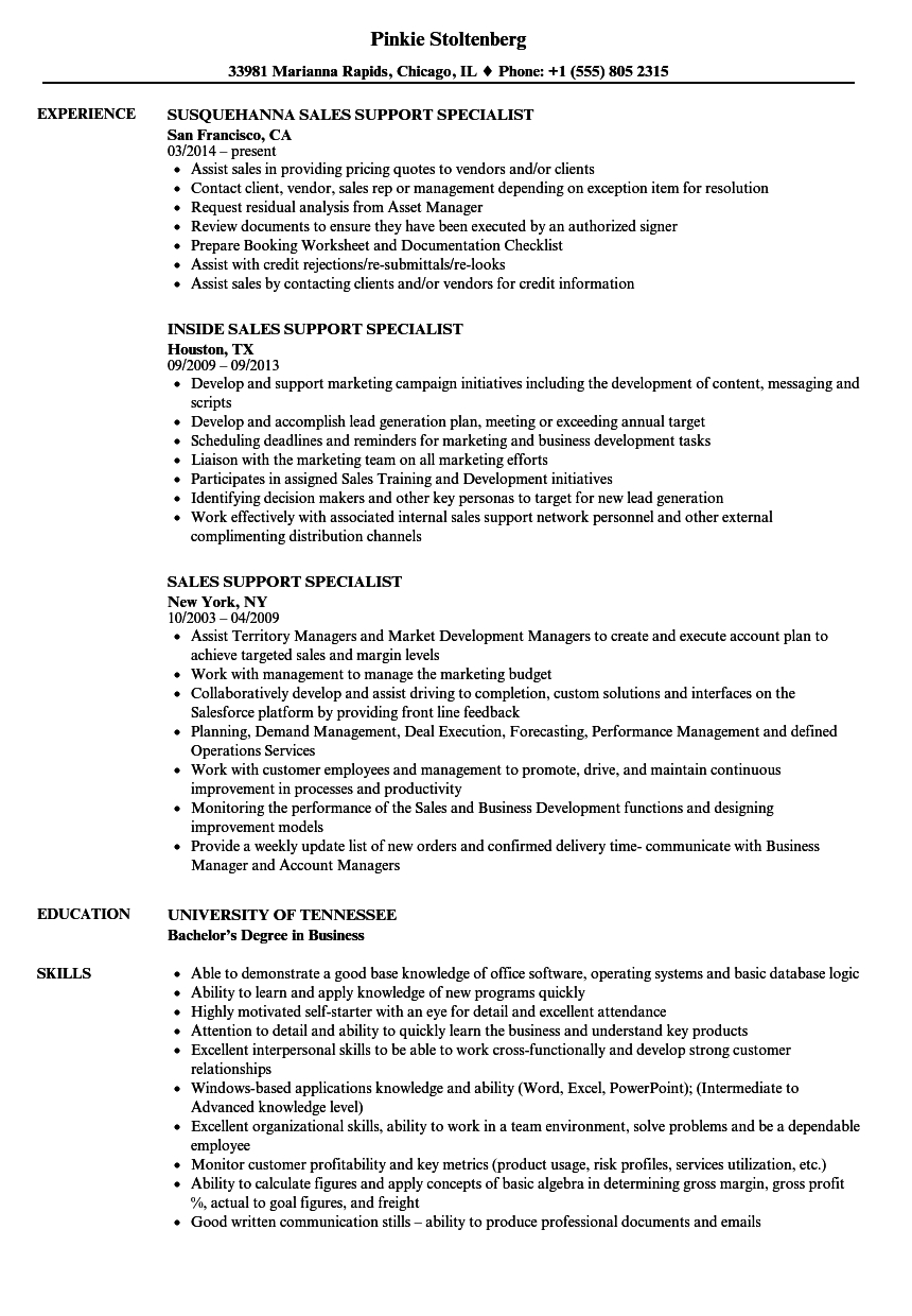 Aml Comfort Letter Template - Sales Support Specialist Resume Samples