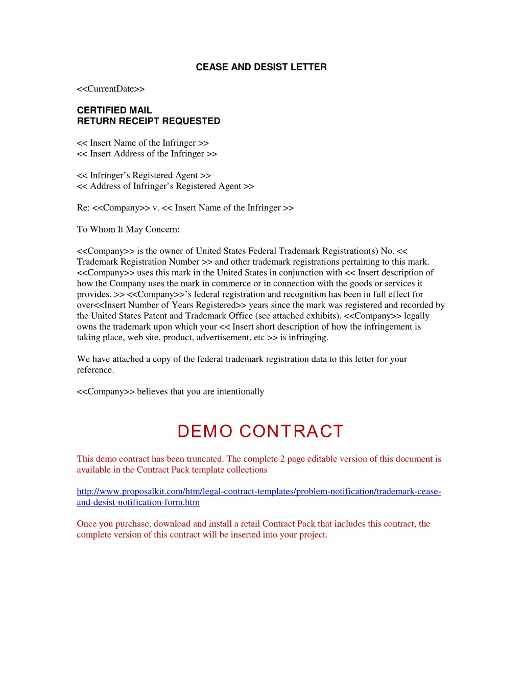 Response to Cease and Desist Letter Template - Sample Cease and Desist Letter to former Employee Ideas