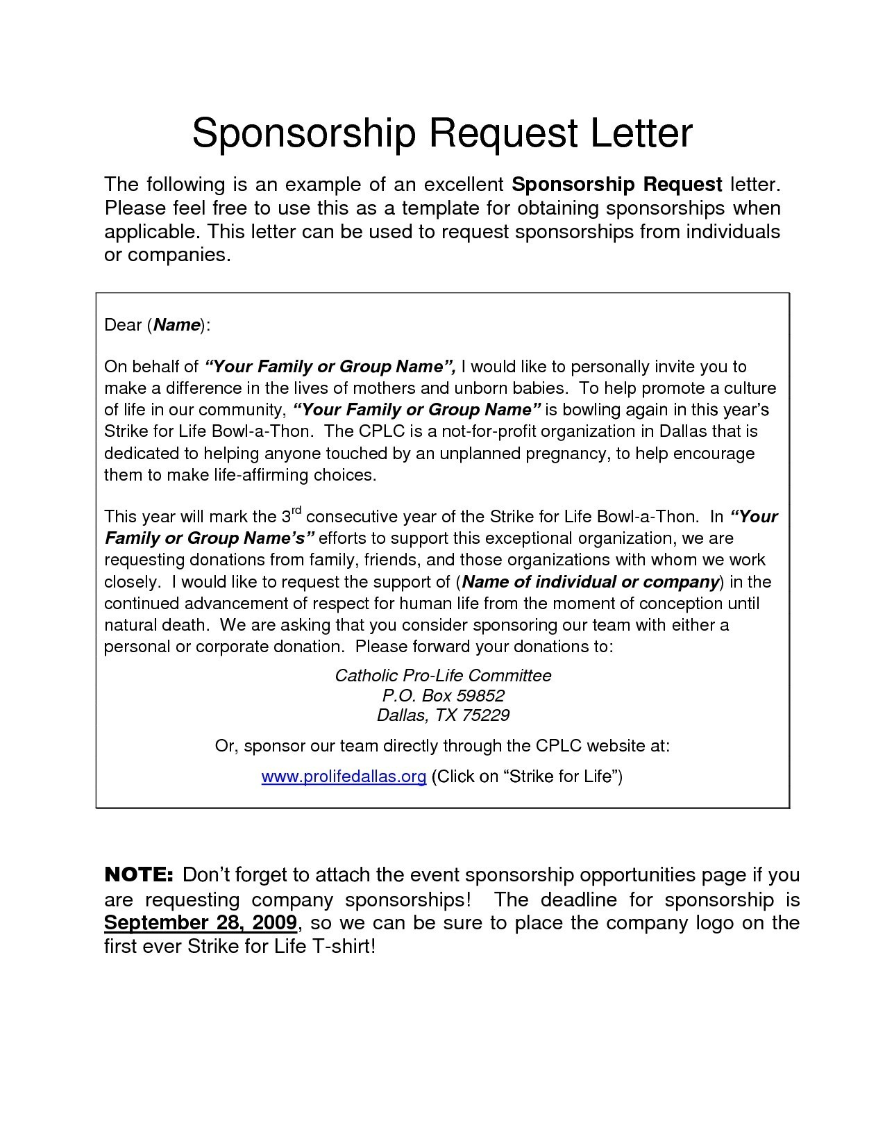 Sponsorship Proposal Letter Template - Sample Certificate Beauty Pageant Copy Free Sponsorship Letter