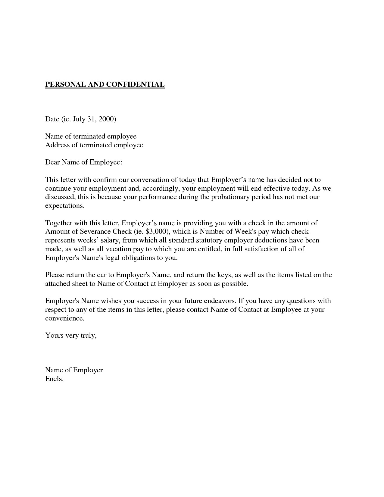 Probation Termination Letter Template - Sample Certificate Employment and Pensation Fresh Employment