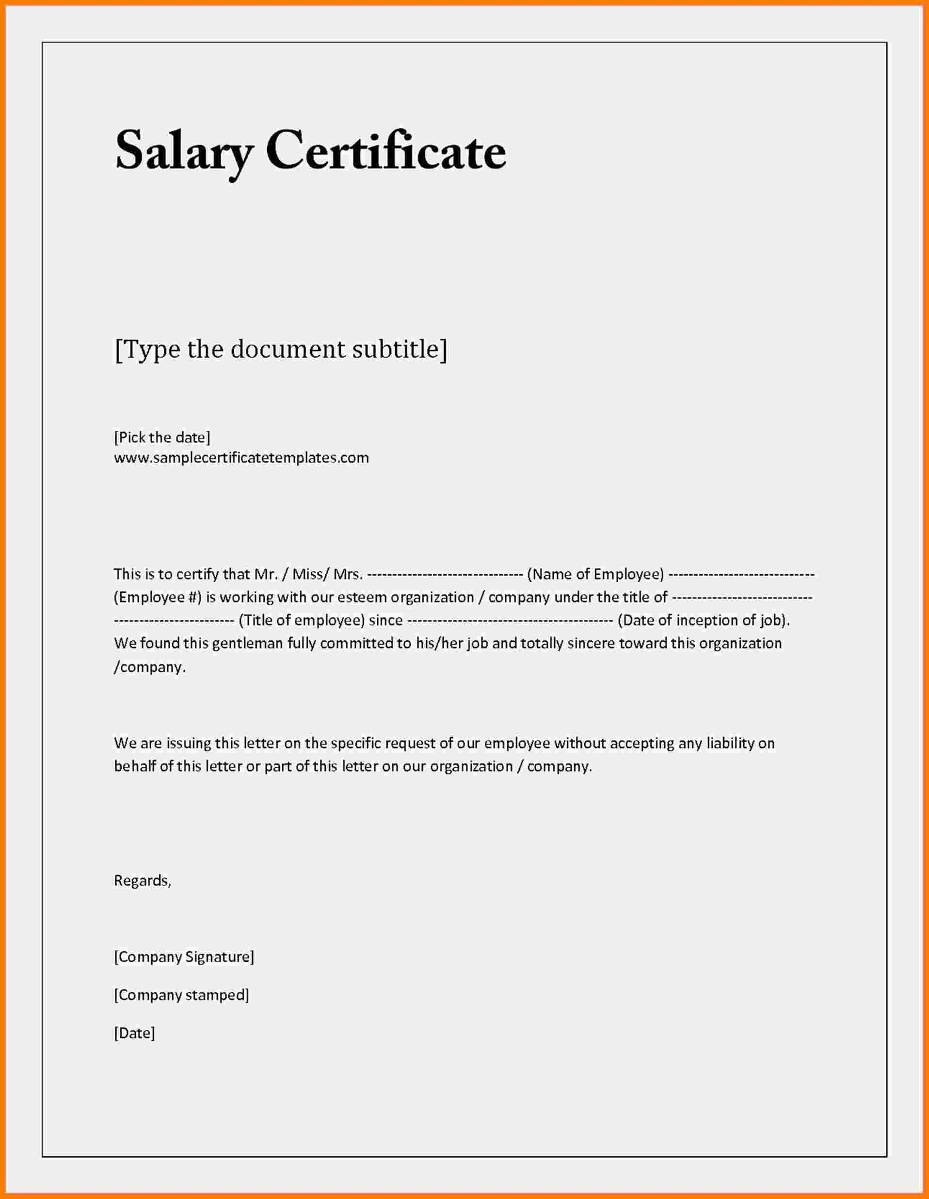 Proof Of Employment and Salary Letter Template Examples | Letter ...