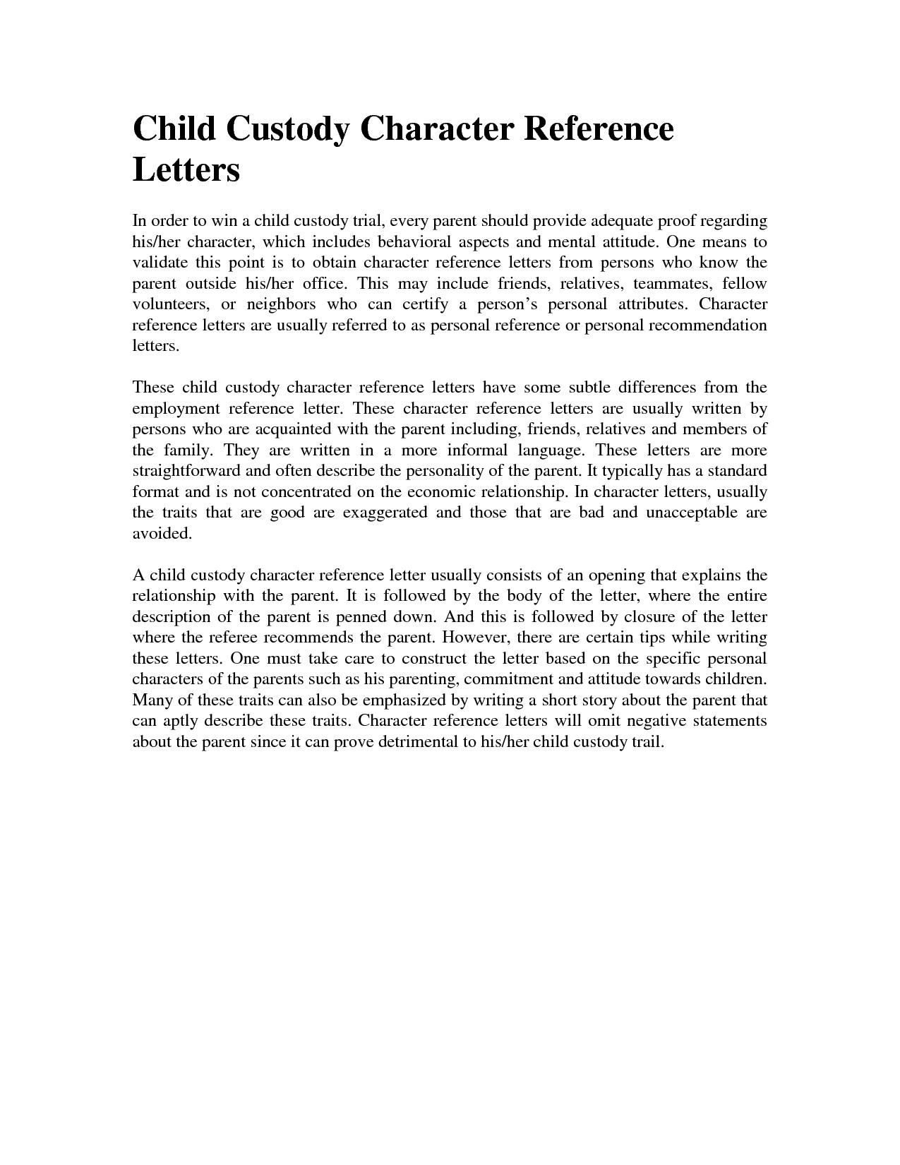 character reference letter court character reference letter for court child custody 20820 | sample character reference for court new sample character reference of character reference letter for court child custody template 1