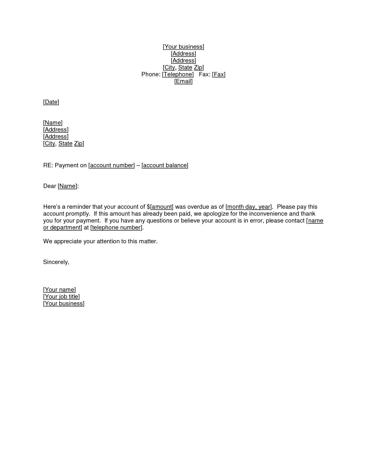 Outstanding Payment Letter Template - Sample Debt Validation Letter