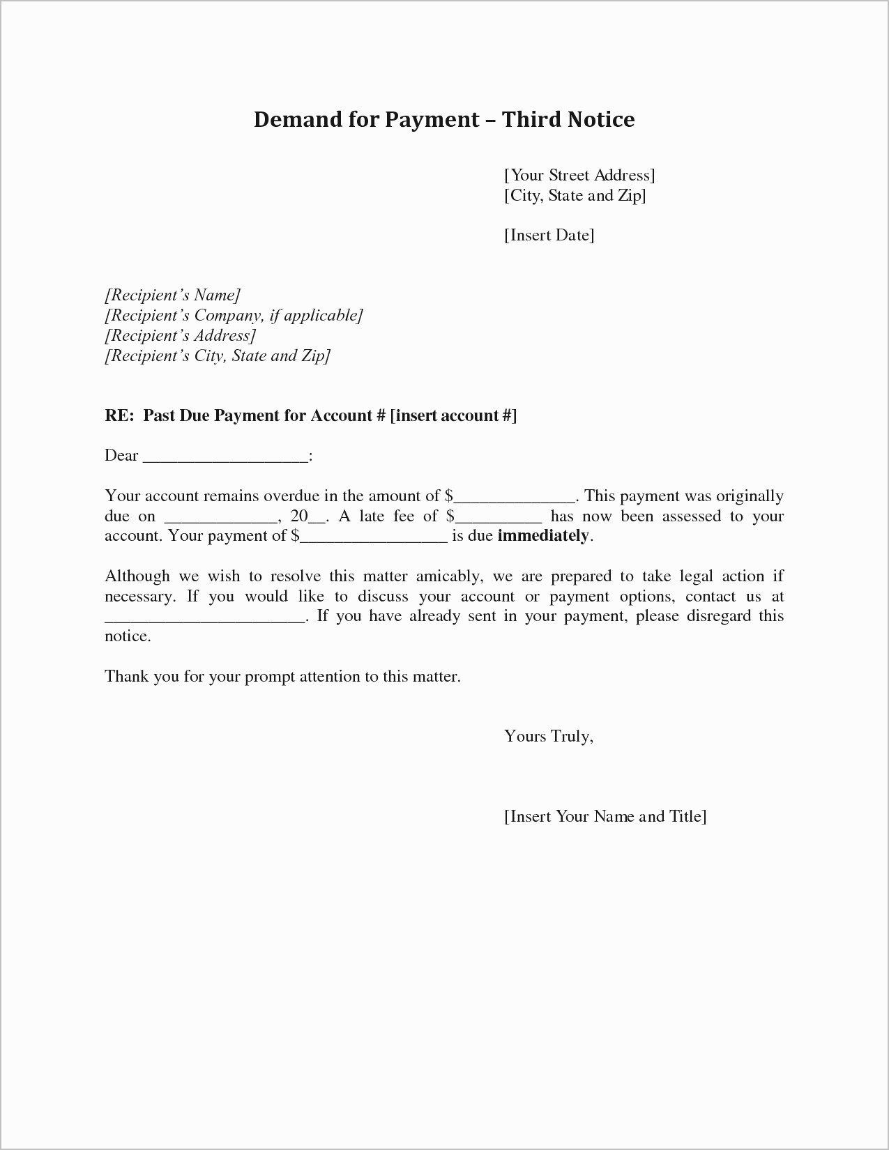 Demand for Payment Letter Template - Sample Demand Letter for Unpaid Rent Beautiful Letter Od Demand