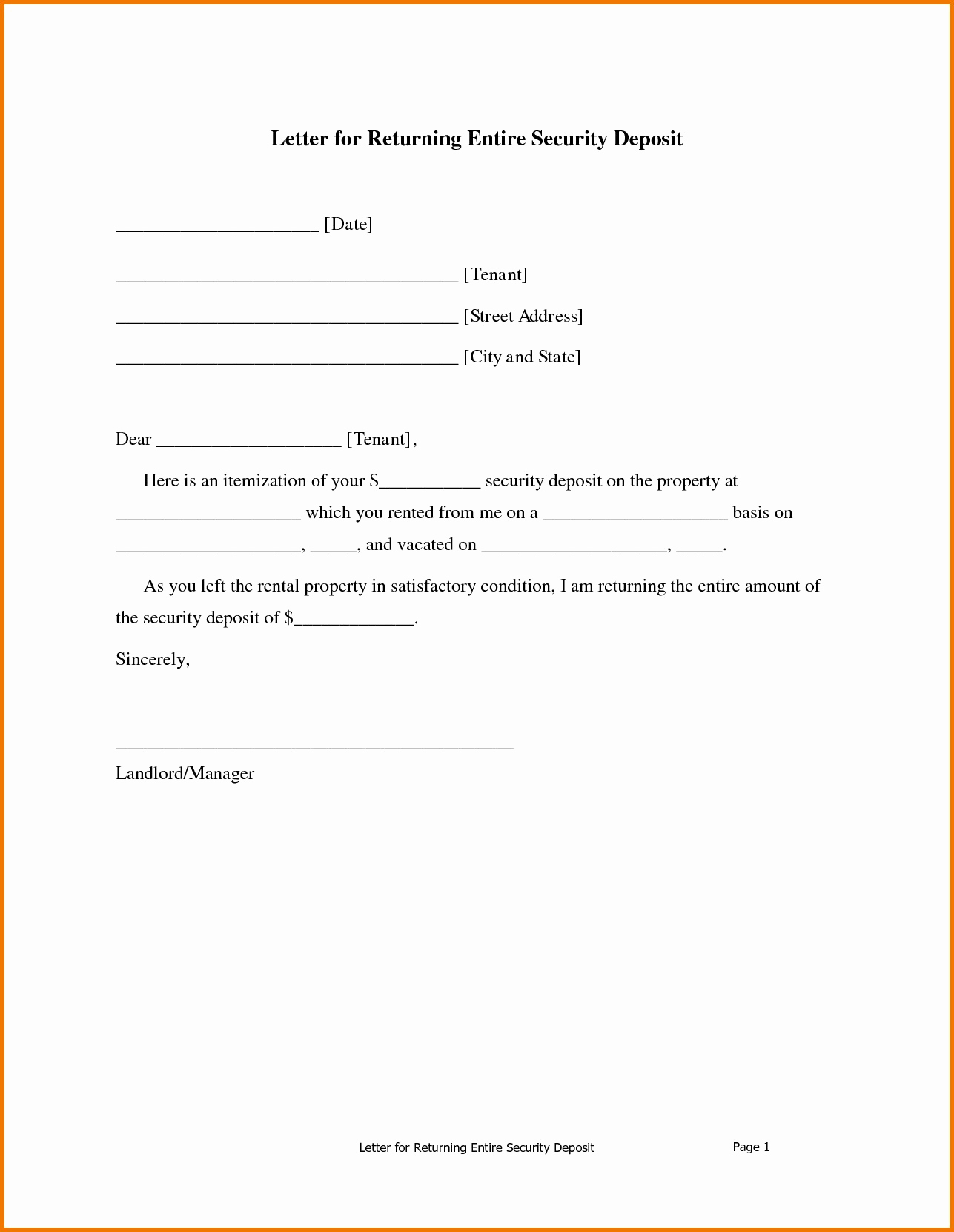 Rent Demand Letter Template - Sample Demand Letter for Unpaid Rent Inspirational Security Deposit
