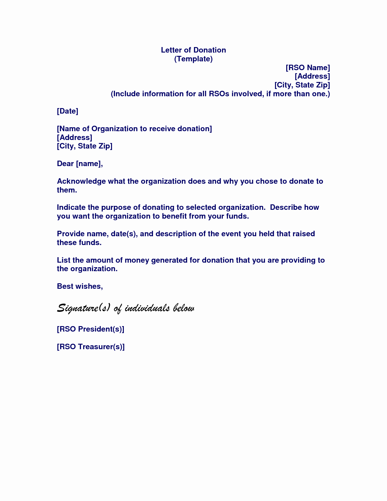 memorial donation letter template samples letter cover templates