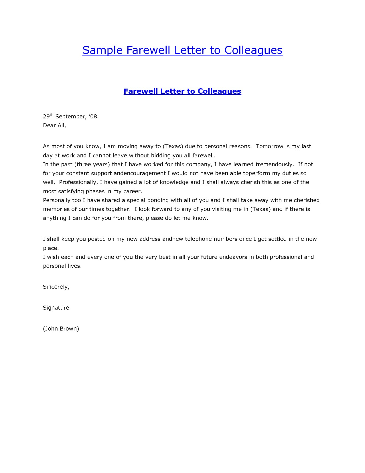 Goodbye Letter to Addiction Template - Sample Goodbye Email to Colleagues at Work New Farewell Email Sample